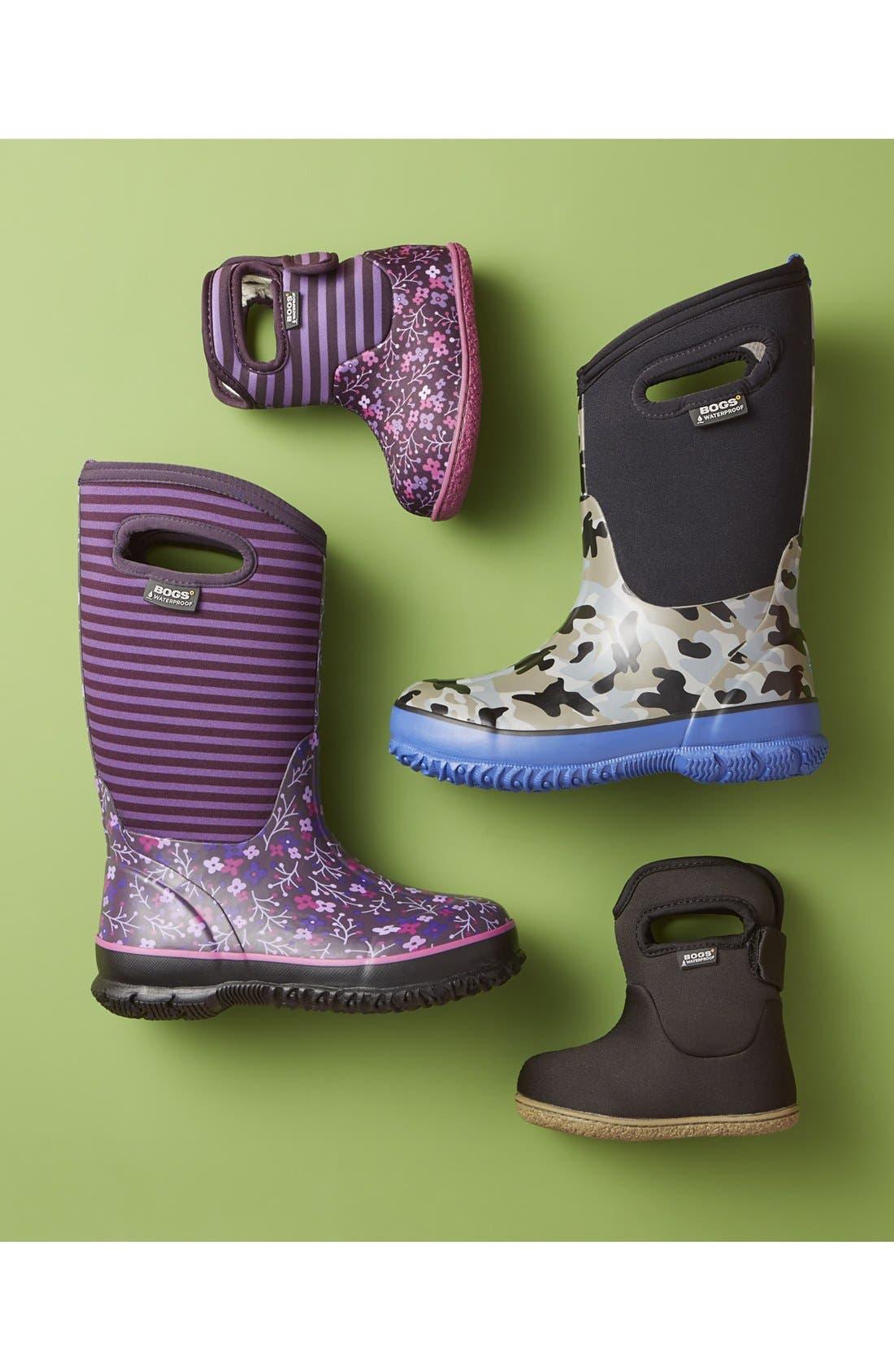 Alternate Image 5  - Bogs 'Classic - Flower Stripe' Waterproof Boot (Little Kid & Big Kid)
