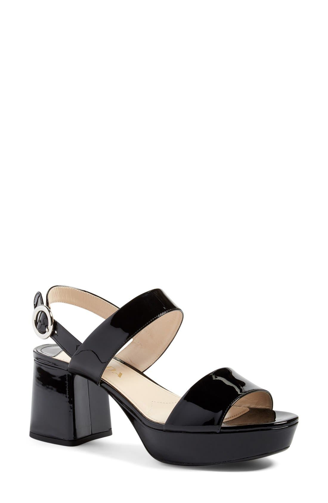 Alternate Image 1 Selected - Prada Slingback Platform Sandal (Women)
