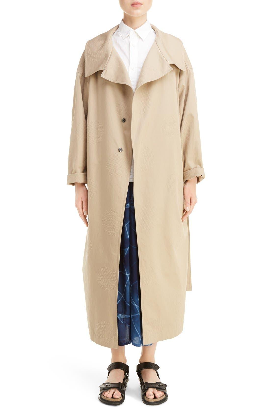 U-Gown Coat,                             Main thumbnail 1, color,                             Beige