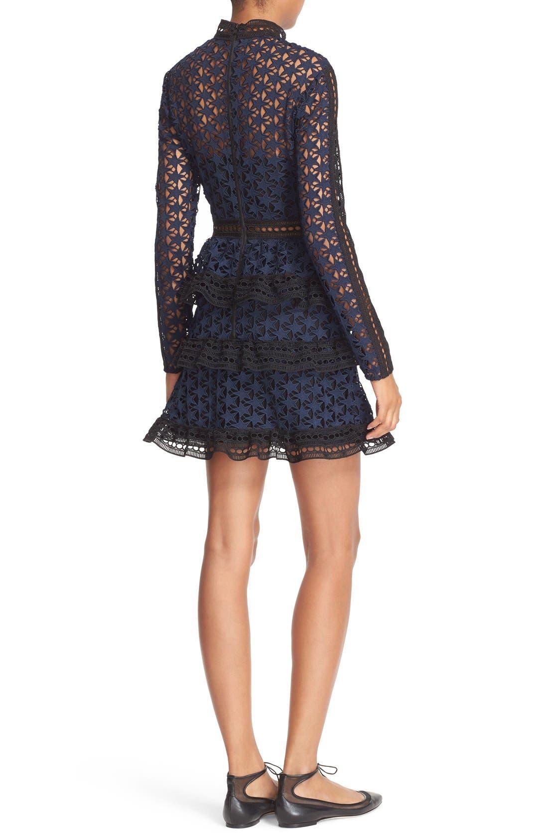 Alternate Image 2  - Self-Portrait Star Lace Tiered Minidress