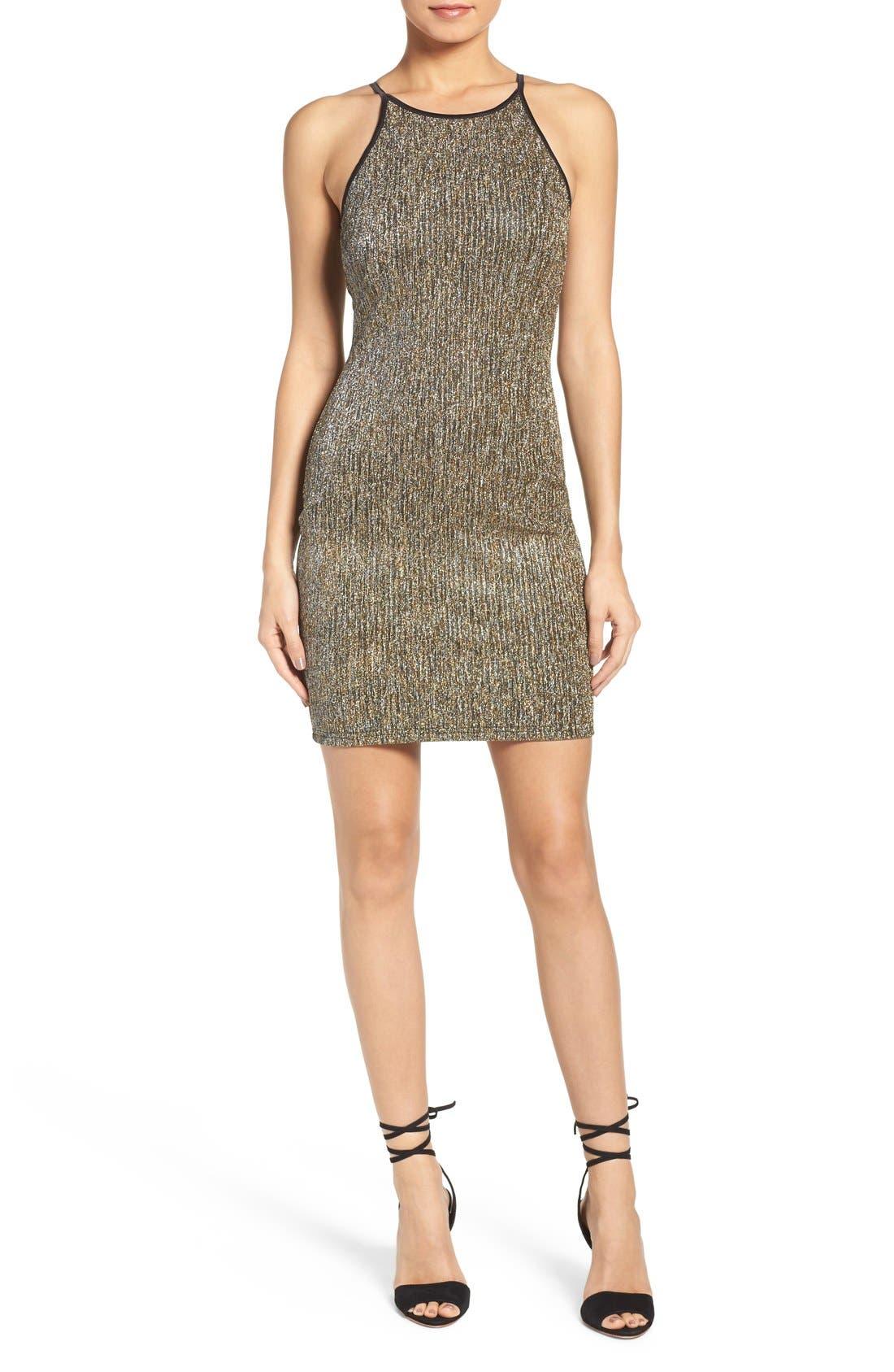 Alternate Image 4  - Gerylin Metallic Knit Body-Con Dress