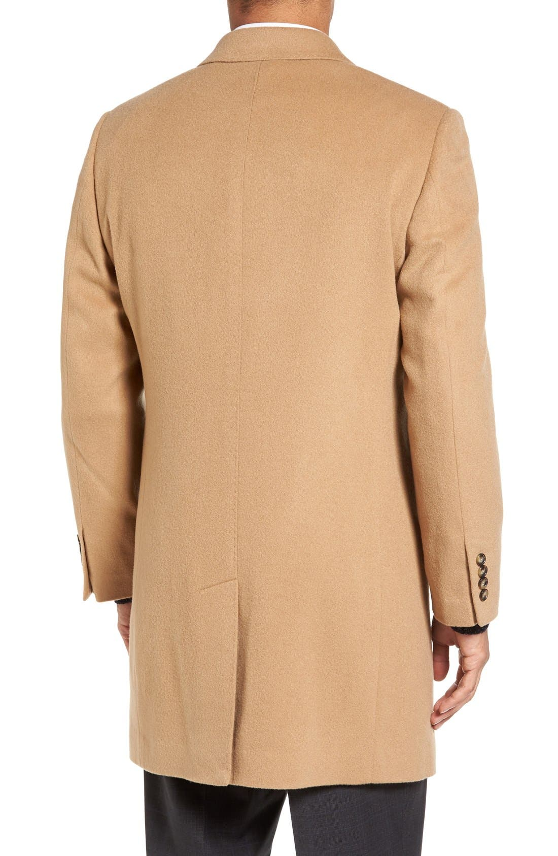 Alternate Image 2  - Nordstrom Men's Shop Freemont Wool & Cashmere Overcoat