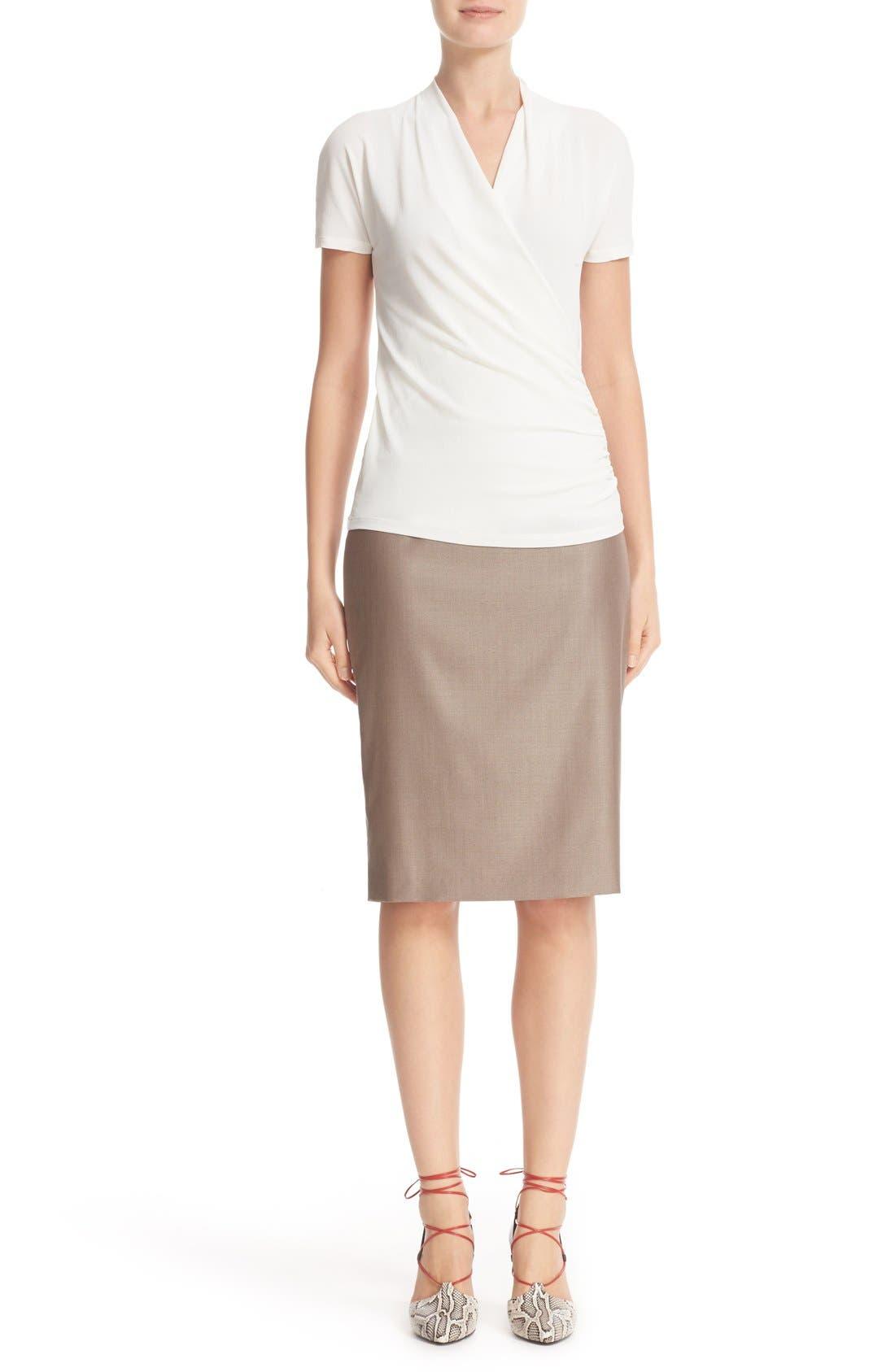 Alternate Image 7  - Max Mara Wool Blend Pencil Skirt