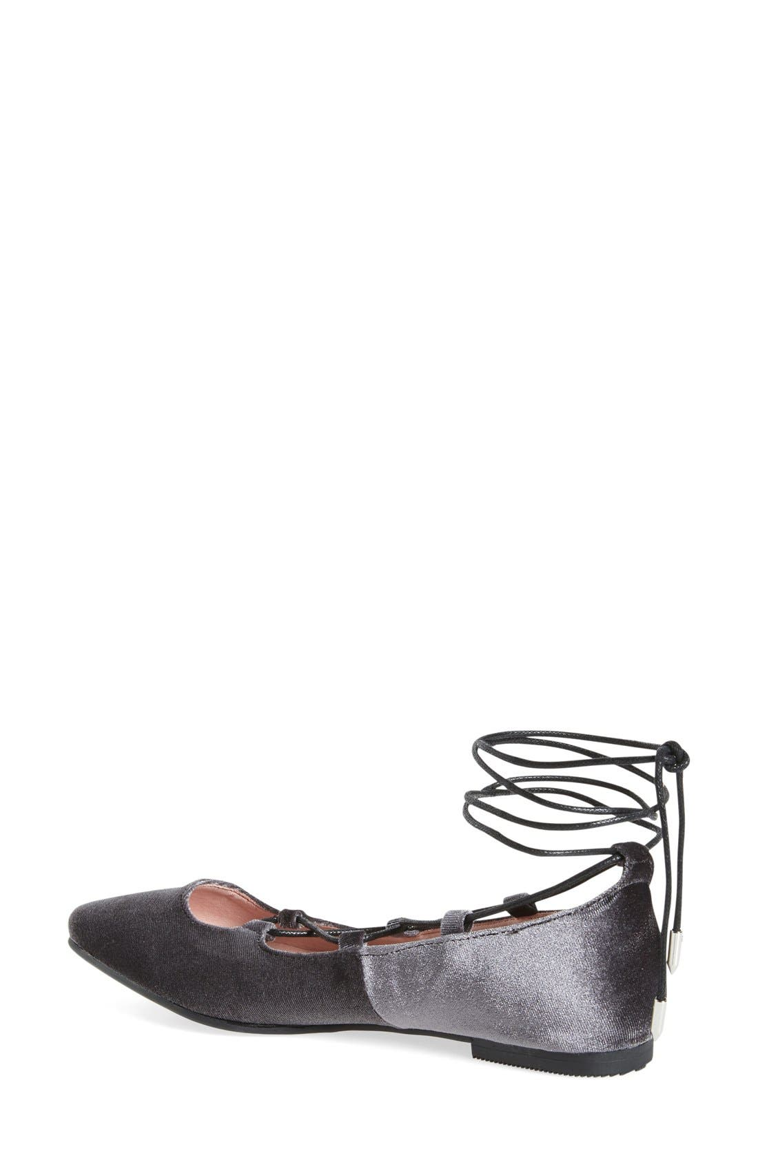 Alternate Image 2  - Chinese Laundry Endless Summer Pointy Toe Ghillie Flat (Women)