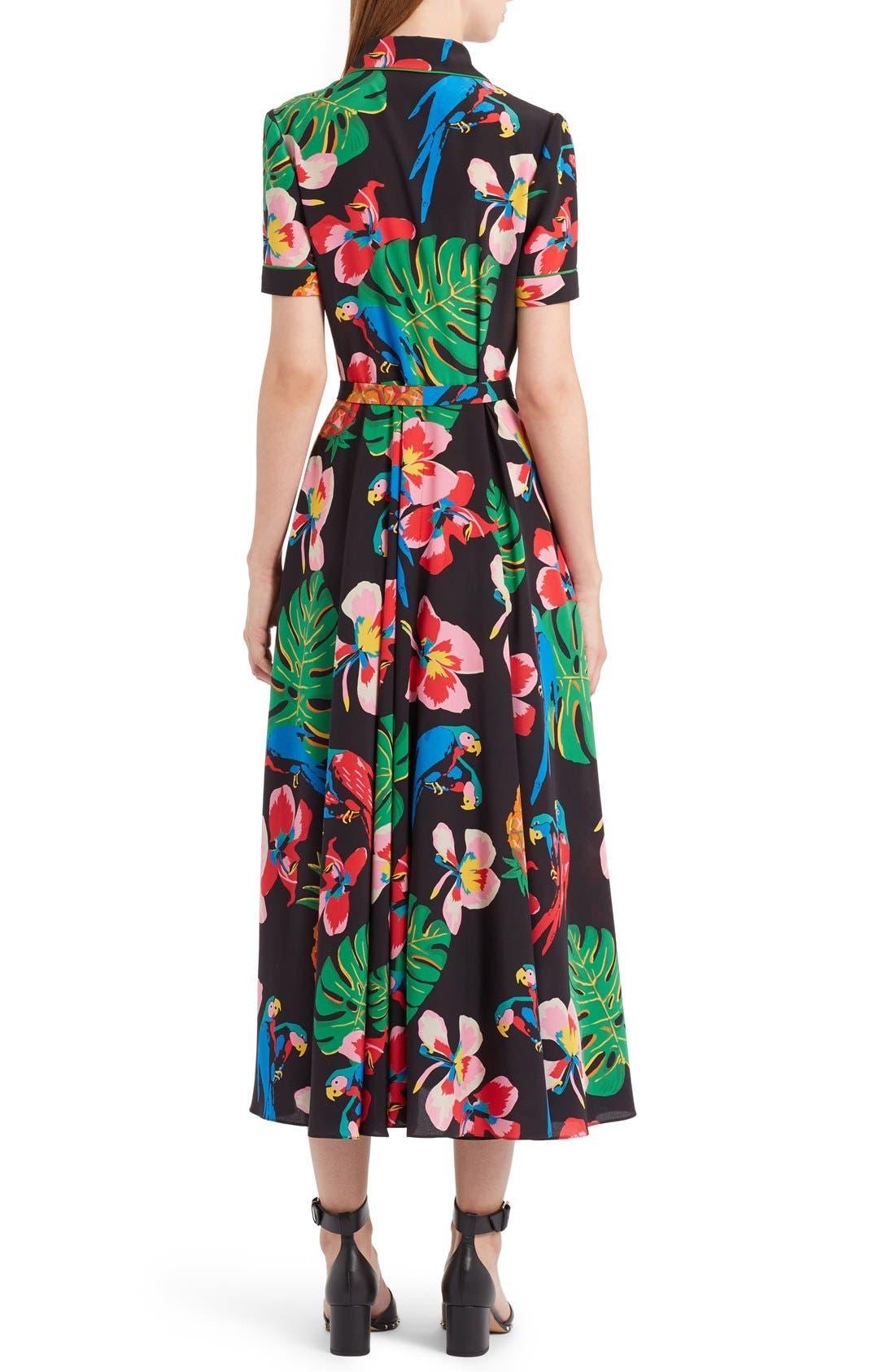 Alternate Image 2  - Valentino Tropical Dream Print Silk Dress
