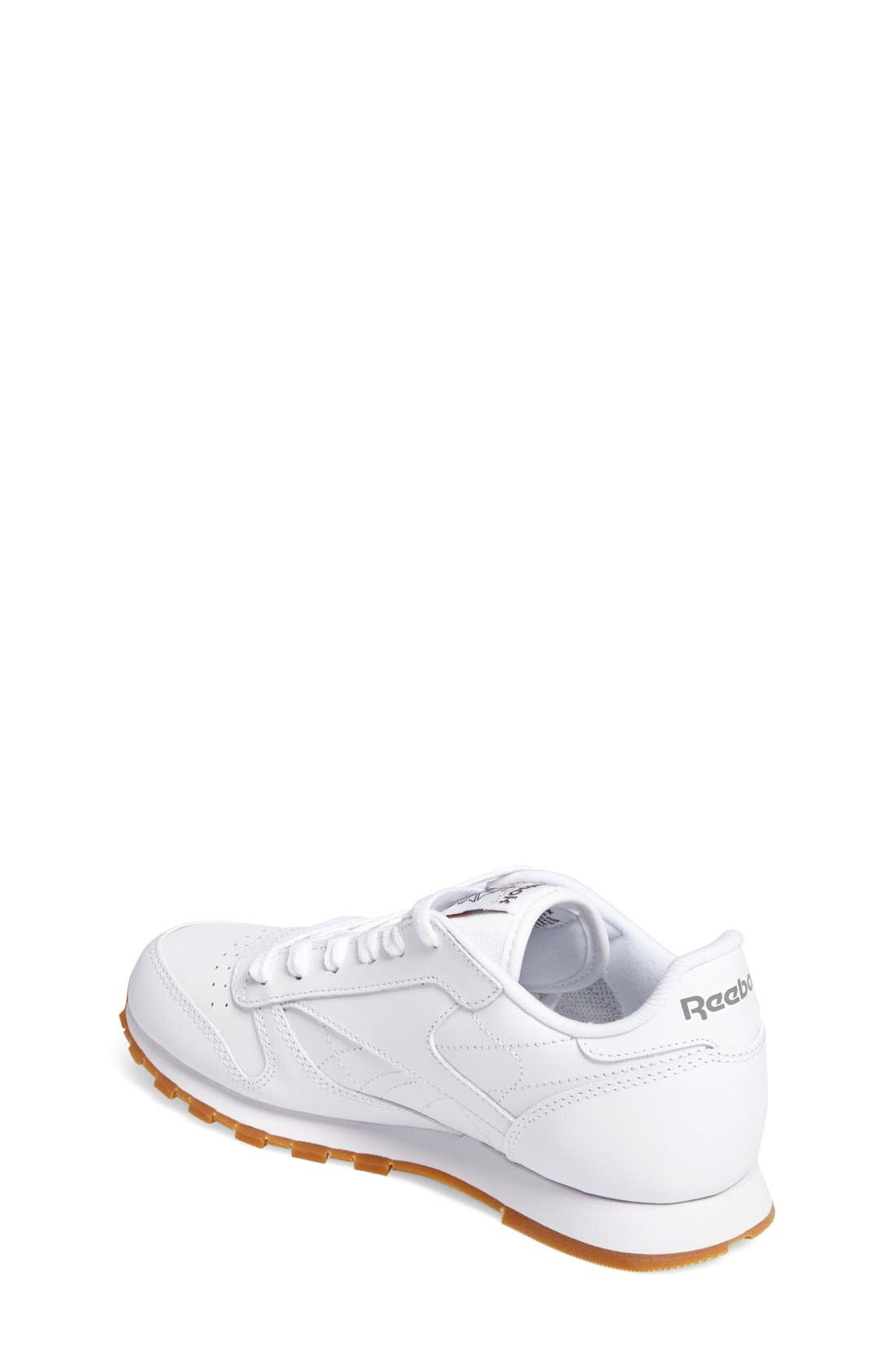 Classic Leather Sneaker,                             Alternate thumbnail 2, color,                             White