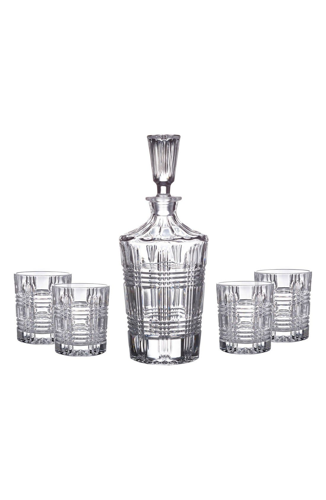 Bridgeport 5-Piece Decanter Set,                         Main,                         color, Clear