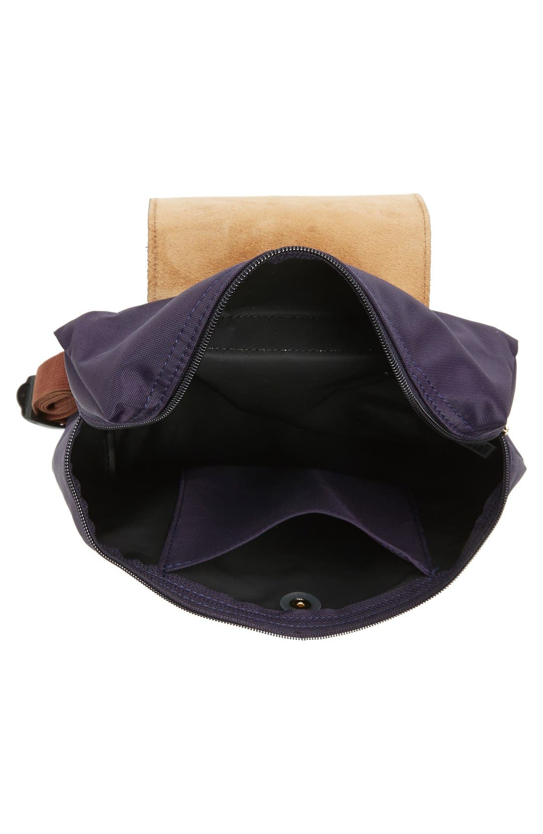 'Le Pliage' Backpack,                             Alternate thumbnail 4, color,                             Bilberry