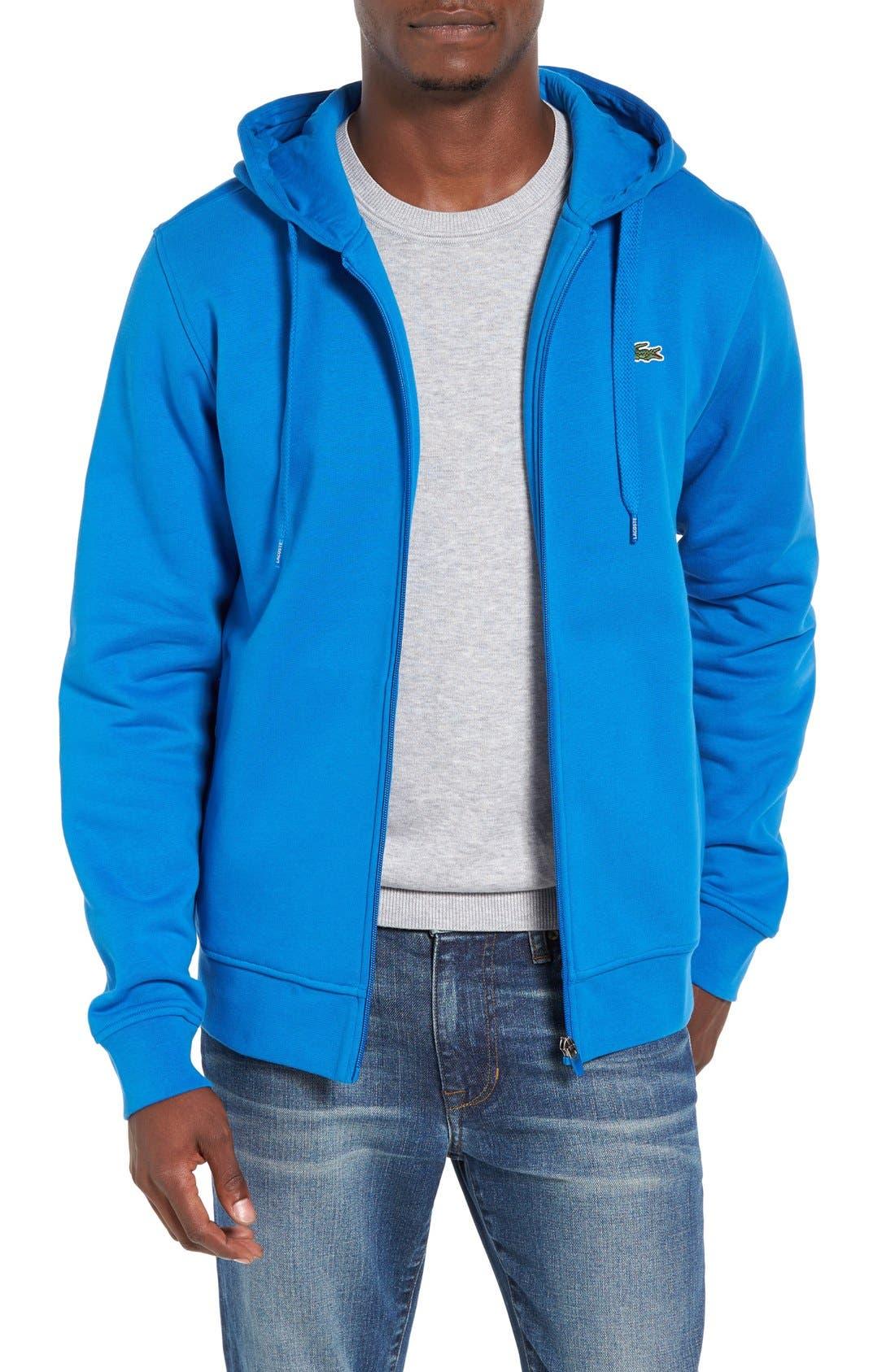 'Sport' Zip Hoodie,                         Main,                         color, Ink Blue