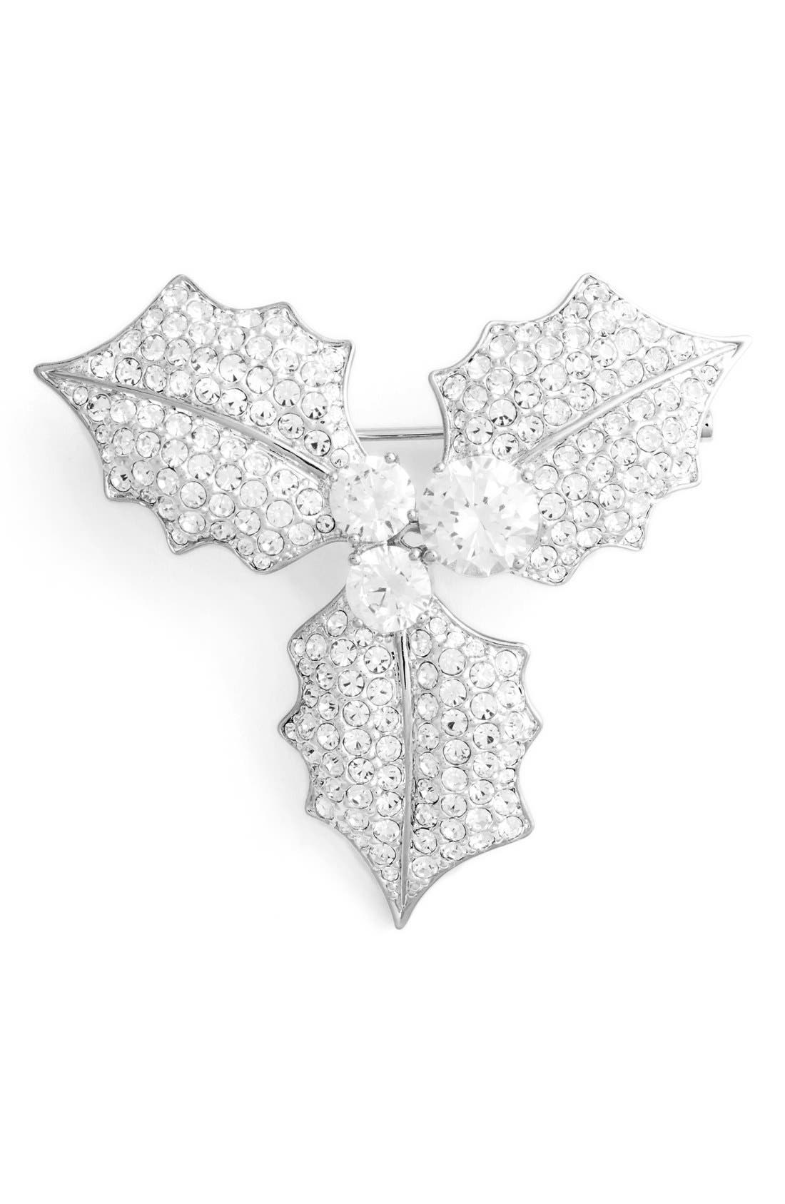 Mistletoe Pin,                             Main thumbnail 1, color,                             Silver