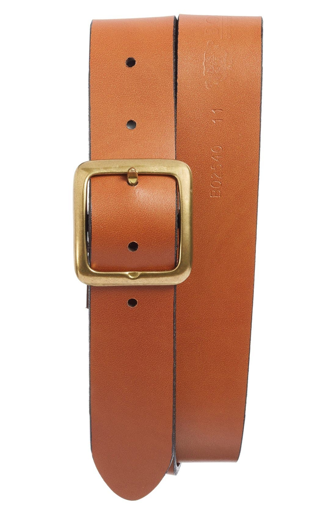 The Bellow Americano Leather Belt,                         Main,                         color, Amber