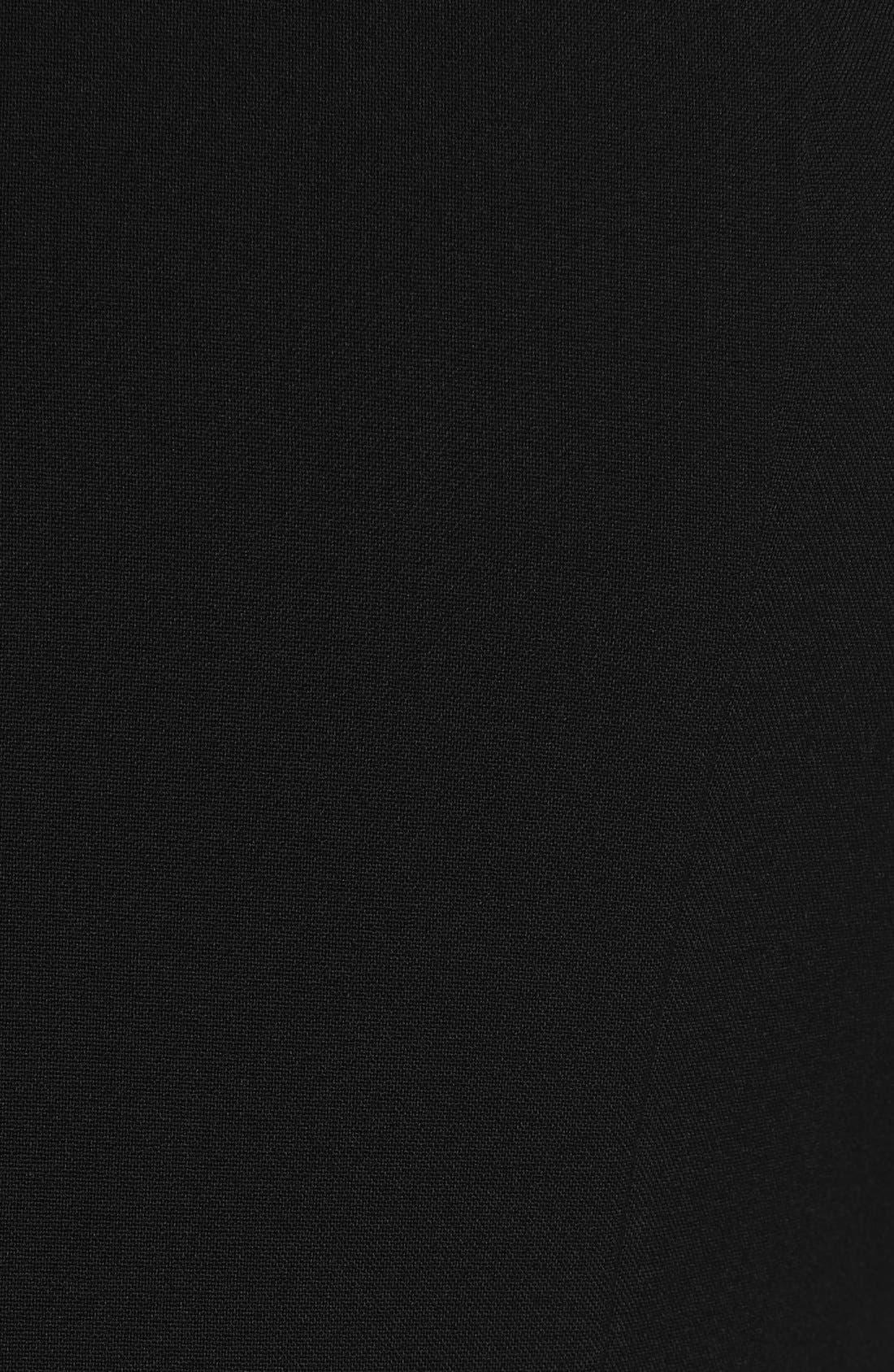 Fit & Flare Dress,                             Alternate thumbnail 5, color,                             Black