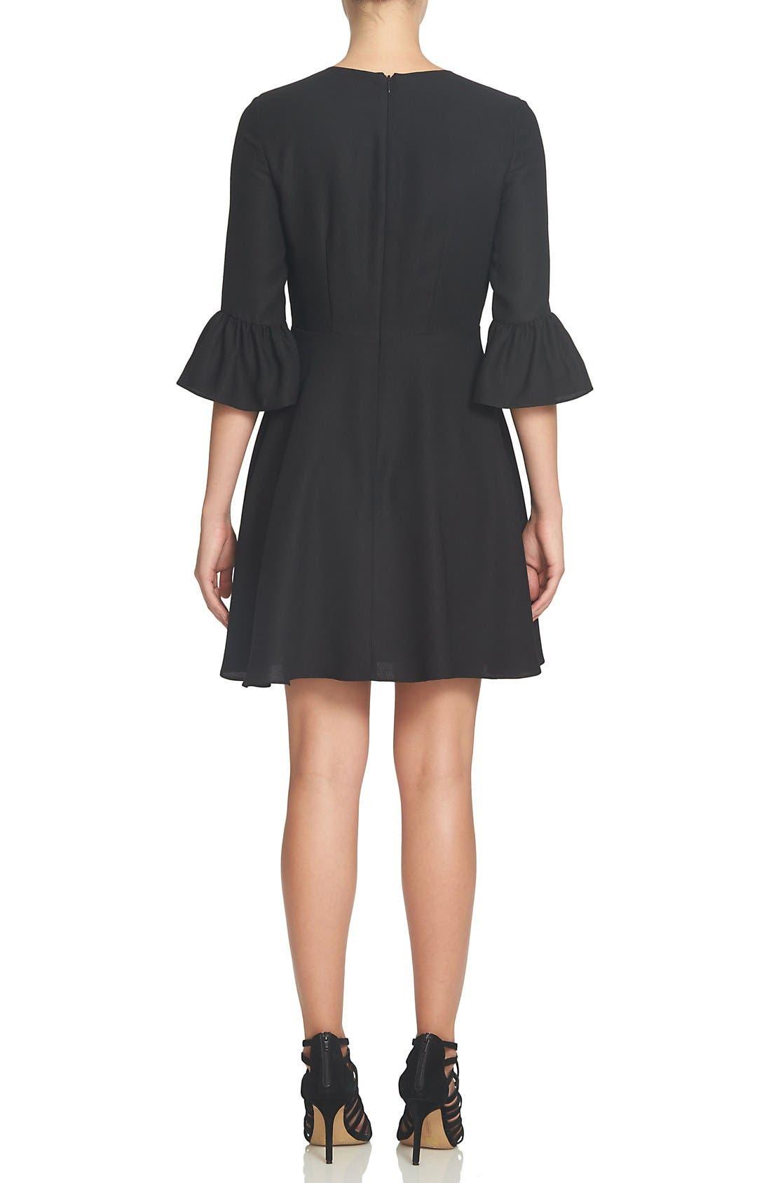 Alternate Image 2  - CeCe Laine Fit & Flare Dress (Regular & Petite)