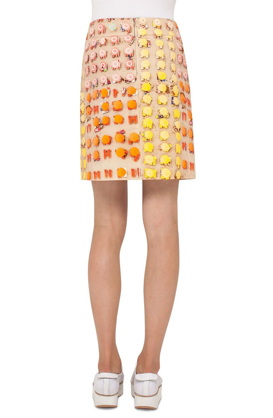 Alternate Image 2  - Akris punto Riviera Print A-Line Skirt