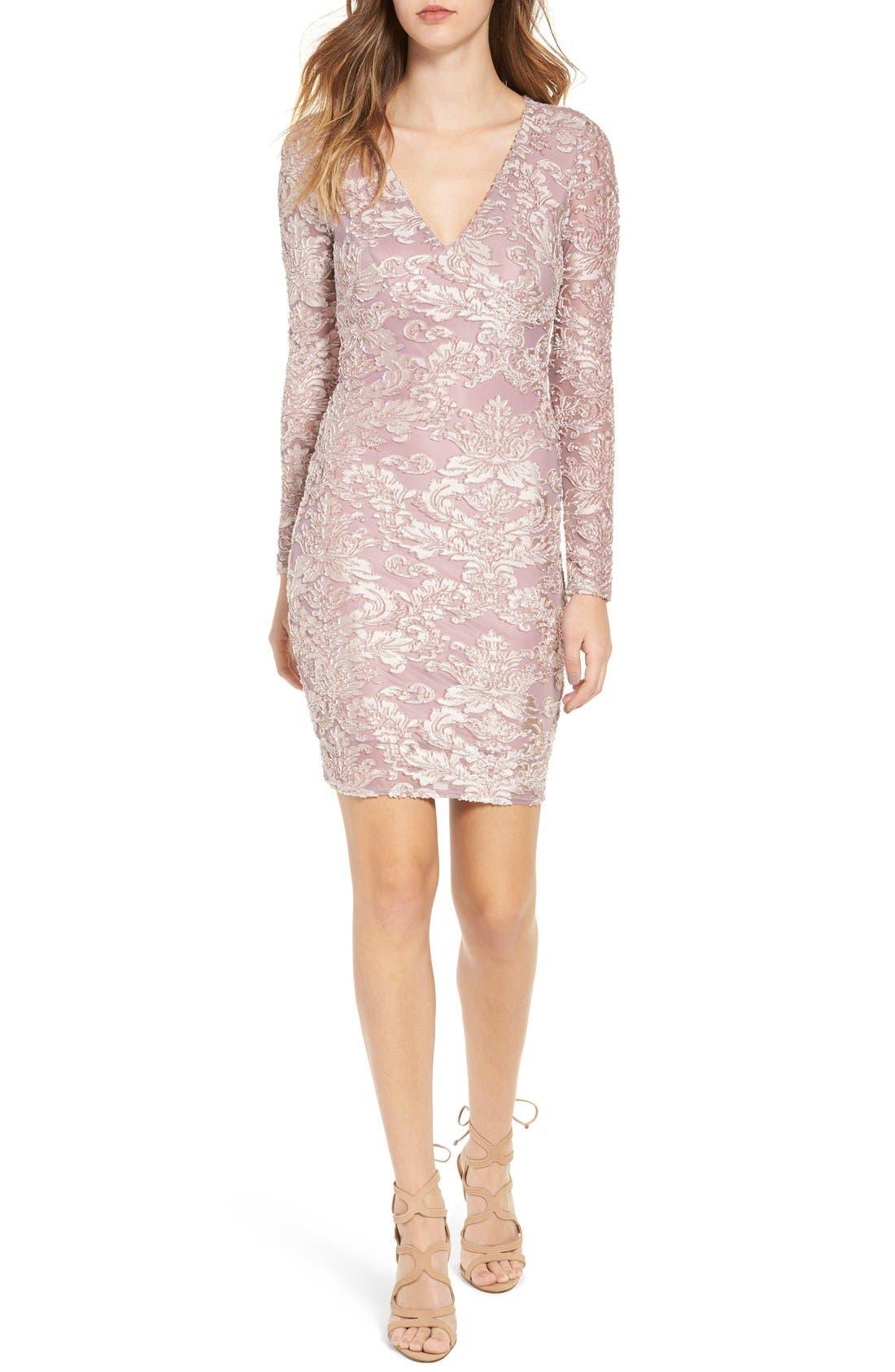Main Image - Leith Floral Velvet Dress