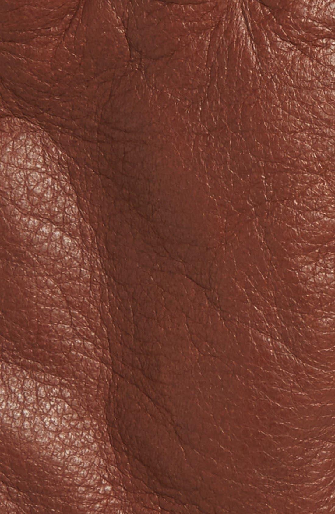 Utsjo Leather Gloves,                             Alternate thumbnail 2, color,                             Chestnut