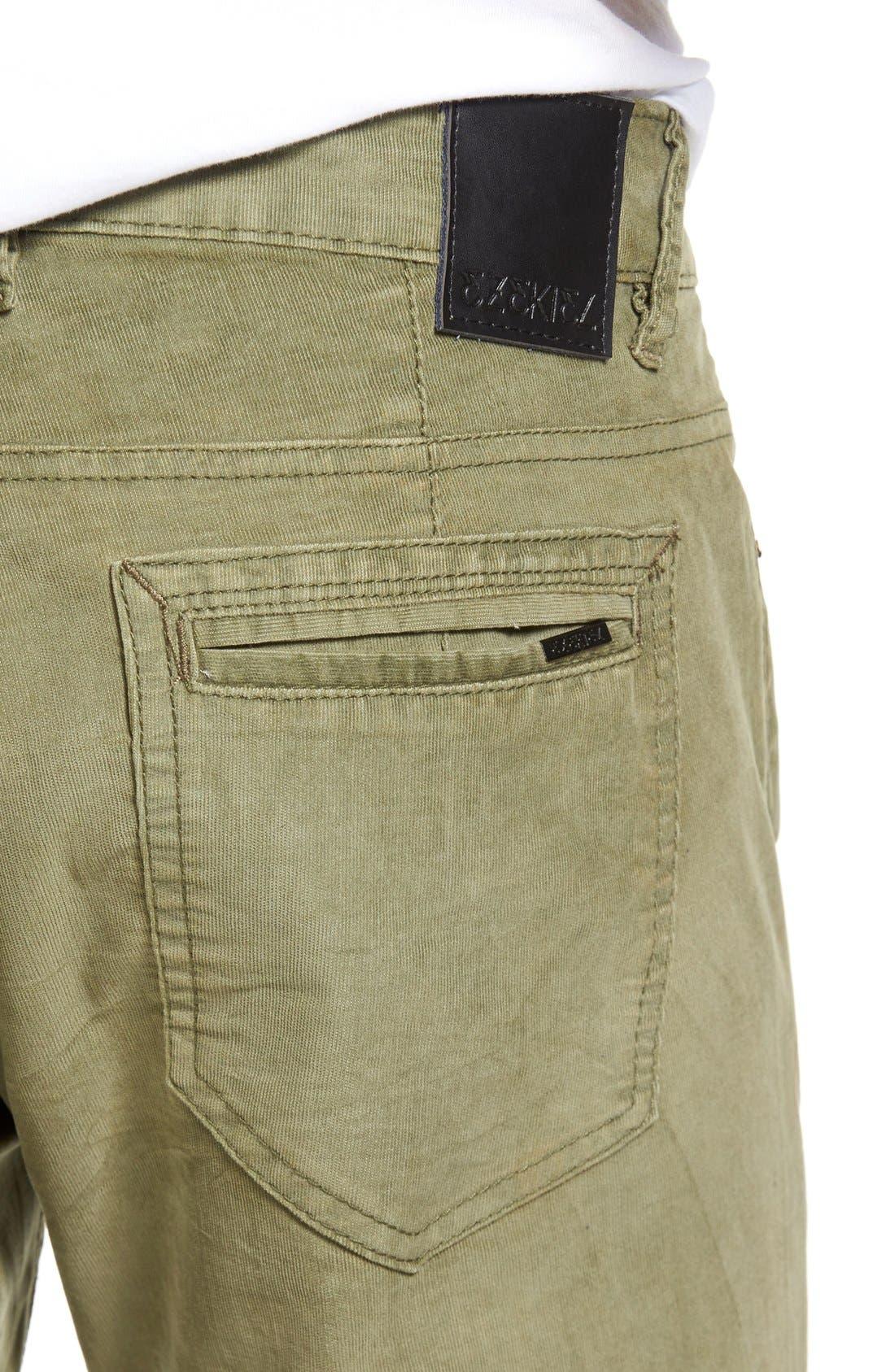 Bryce Chopper Slim Fit Corduroy Pants,                             Alternate thumbnail 4, color,                             Olive