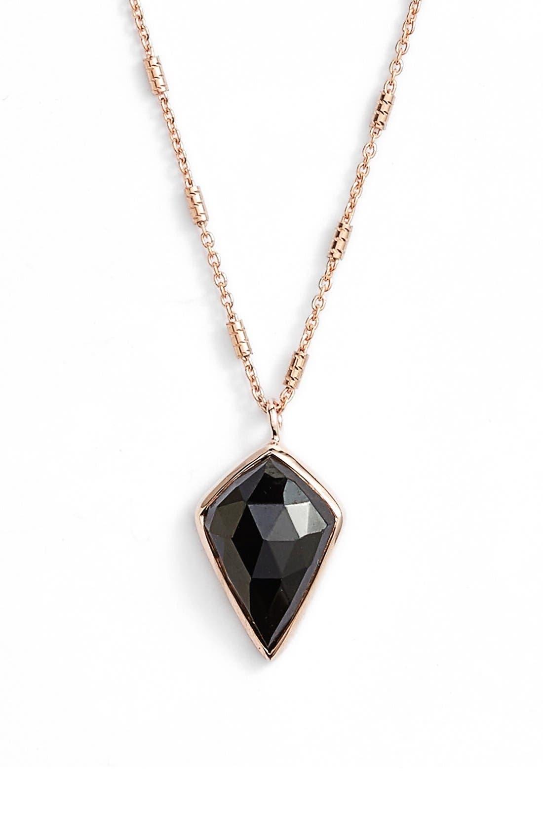 Pendant Necklace,                         Main,                         color, Black / Rose Gold