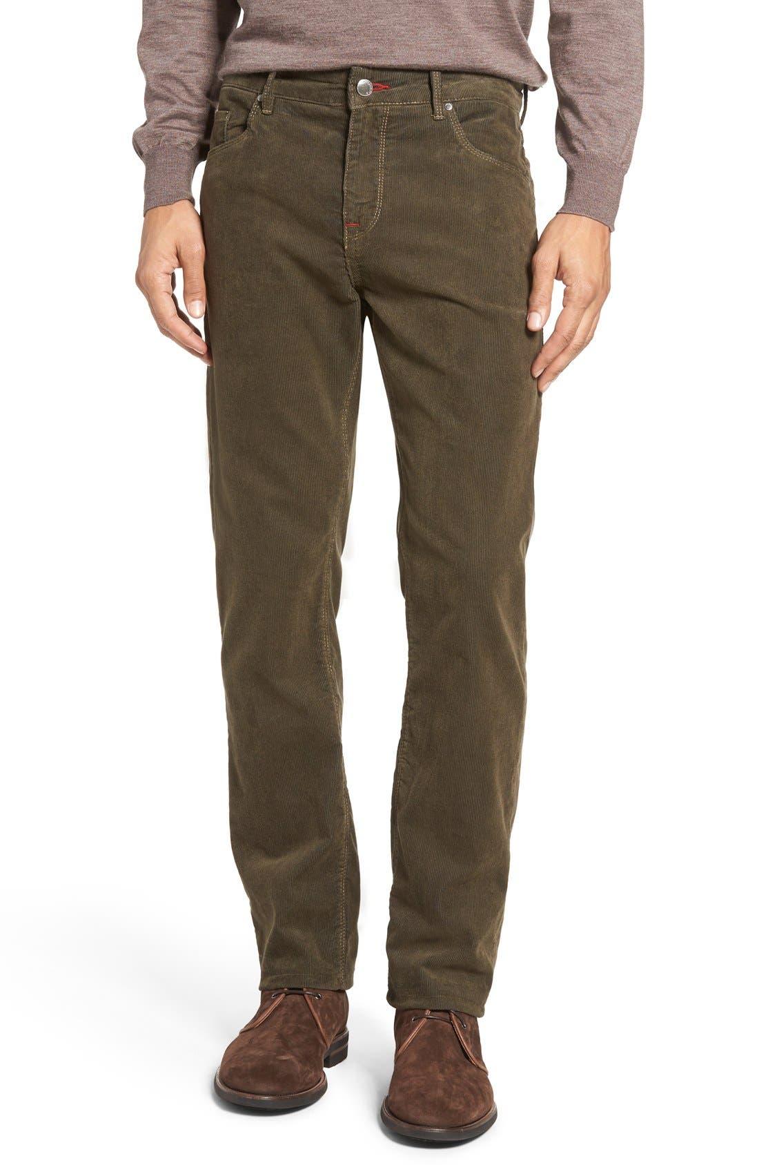 Slim Fit Corduroy Pants,                         Main,                         color, Sage