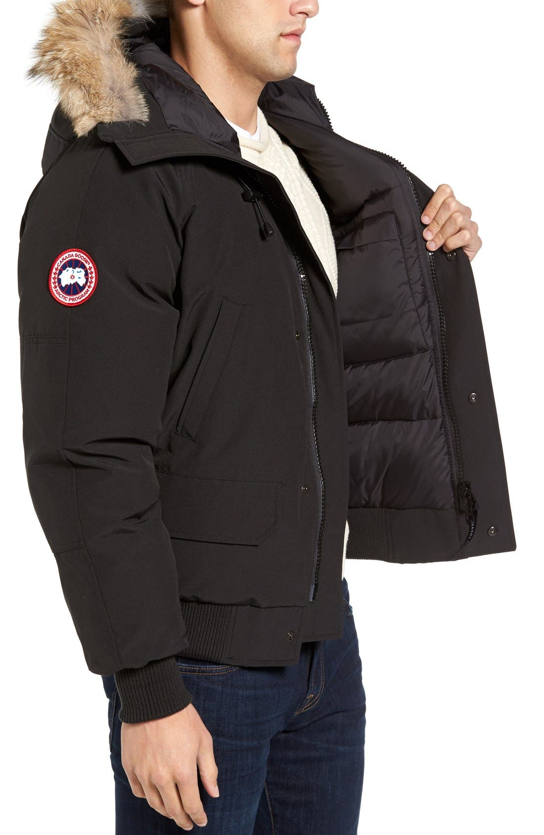 Alternate Image 4  - Canada Goose 'Chilliwack' Down Bomber Jacket with Genuine Coyote Trim