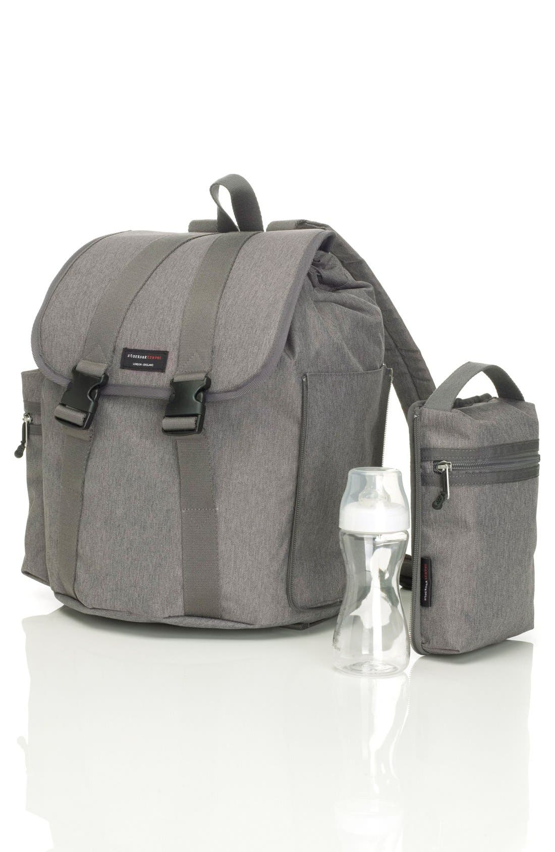 Alternate Image 5  - Storksak Travel Backpack Diaper Bag