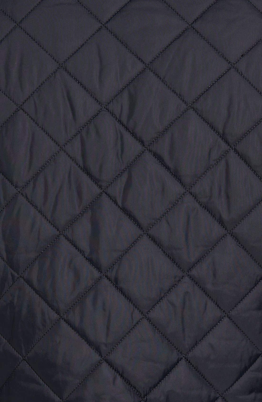 'Akenside' Regular Fit Quilted Jacket,                             Alternate thumbnail 5, color,                             Black
