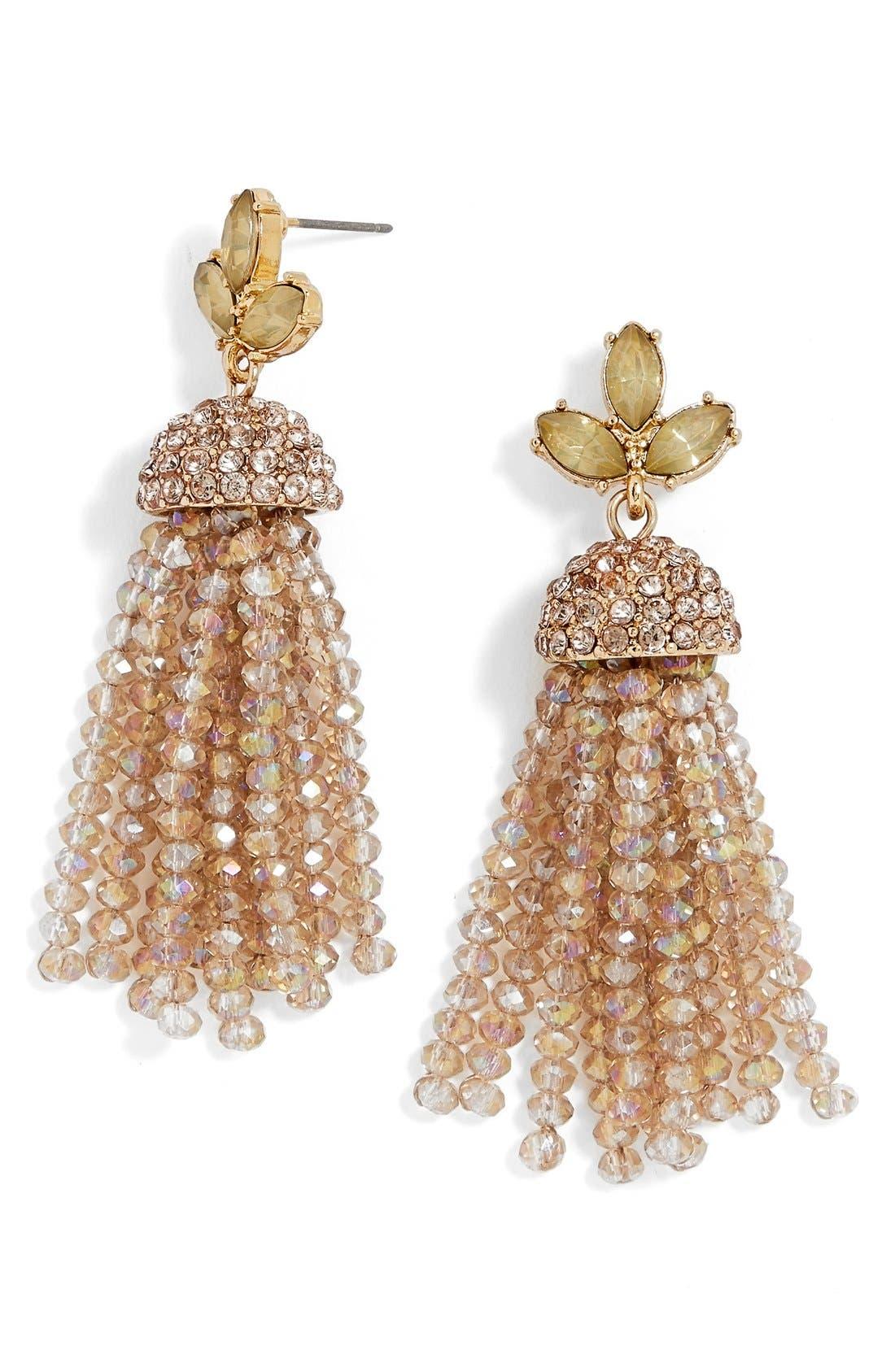 Alternate Image 1 Selected - BaubleBar Mabel Tassel Drop Earrings