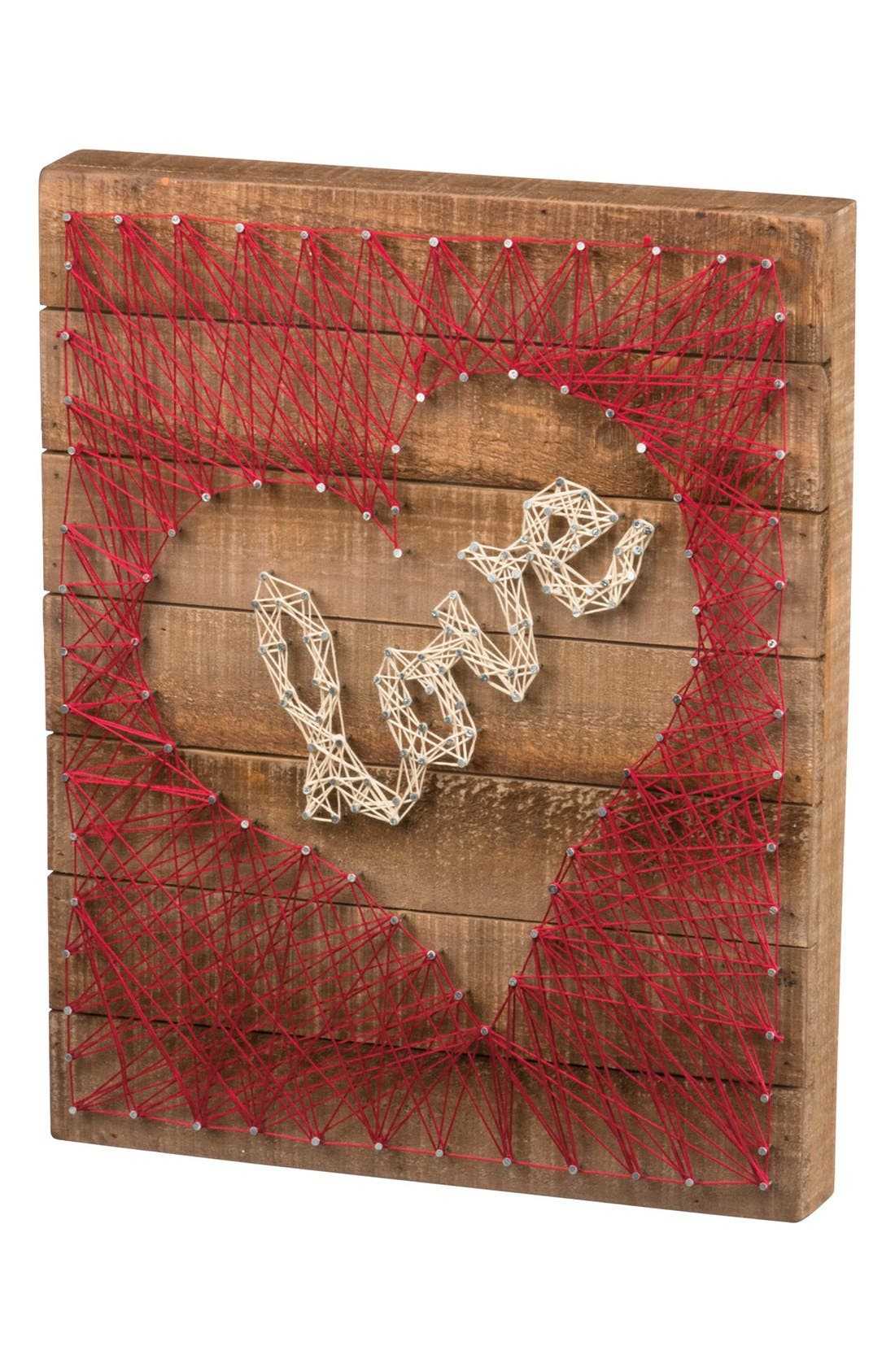 Main Image - Primitives by Kathy Love Heart String Art Box Sign