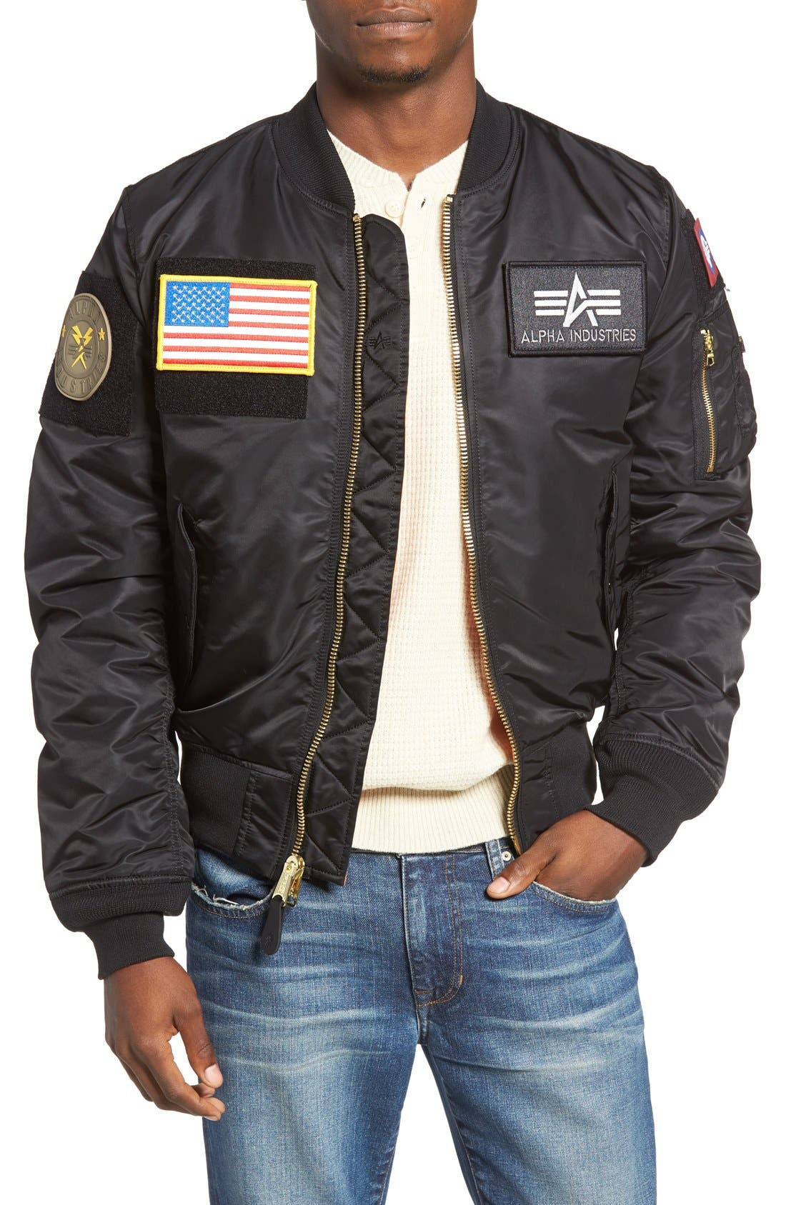 Alternate Image 1 Selected - Alpha Industries Slim Fit Reversible MA-1 Flex Bomber Jacket