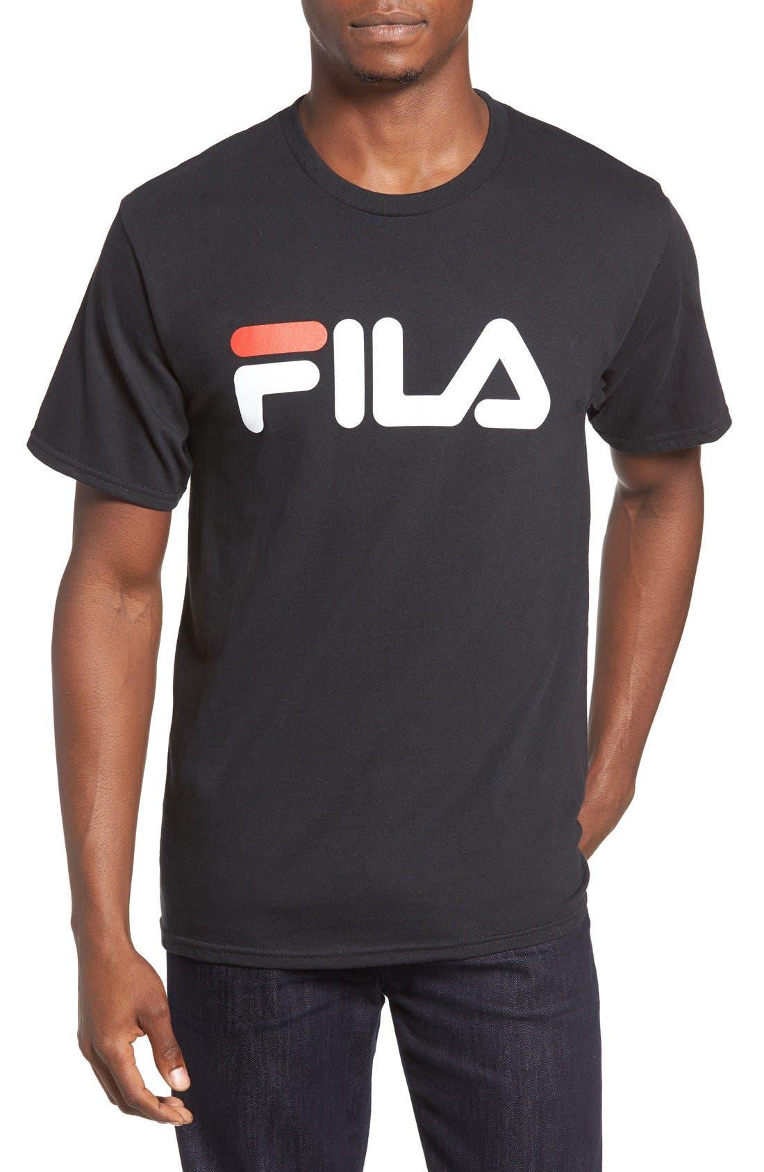 USA Graphic T-Shirt,                         Main,                         color, Black