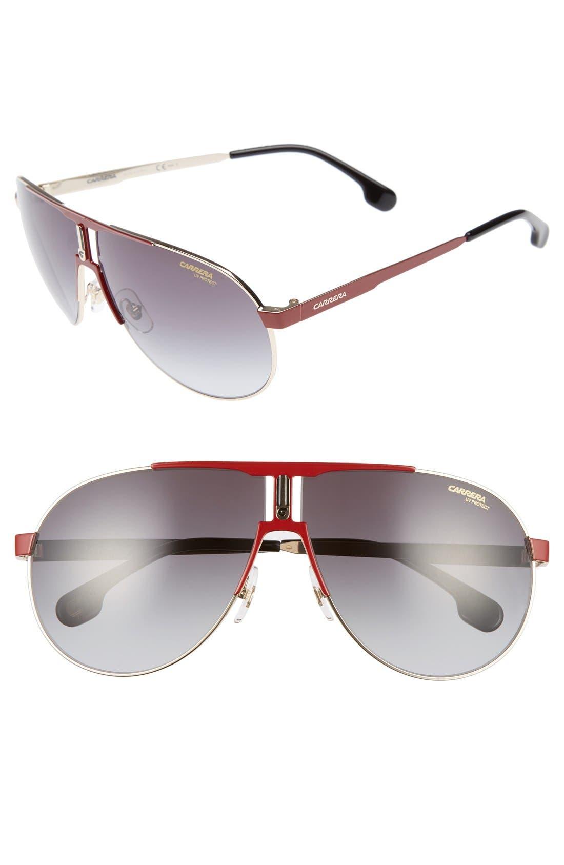 Carrera Eyewear 66mm Aviator Sunglasses
