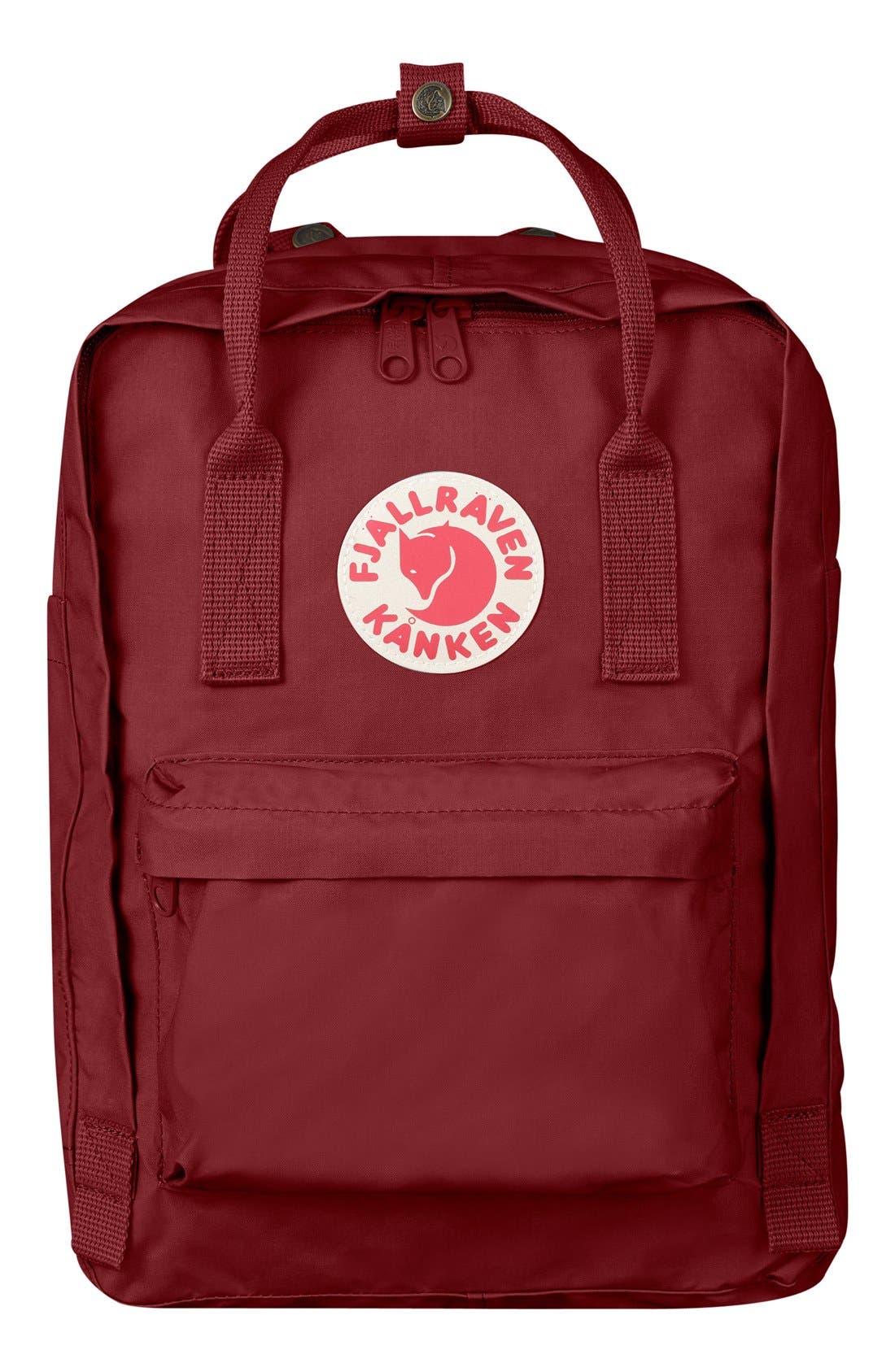 'Kånken' Laptop Backpack,                             Main thumbnail 1, color,                             Ox Red