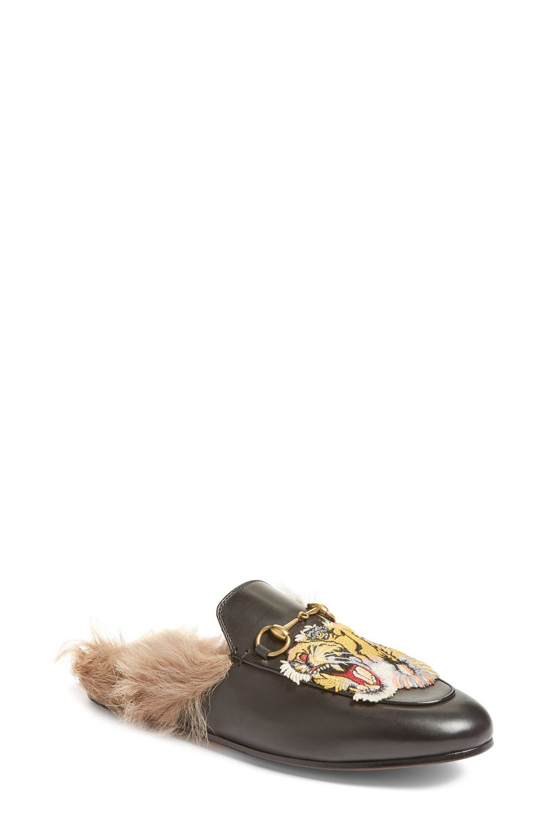 Gucci Princetown Genuine Fur Loafer Mule (Women)