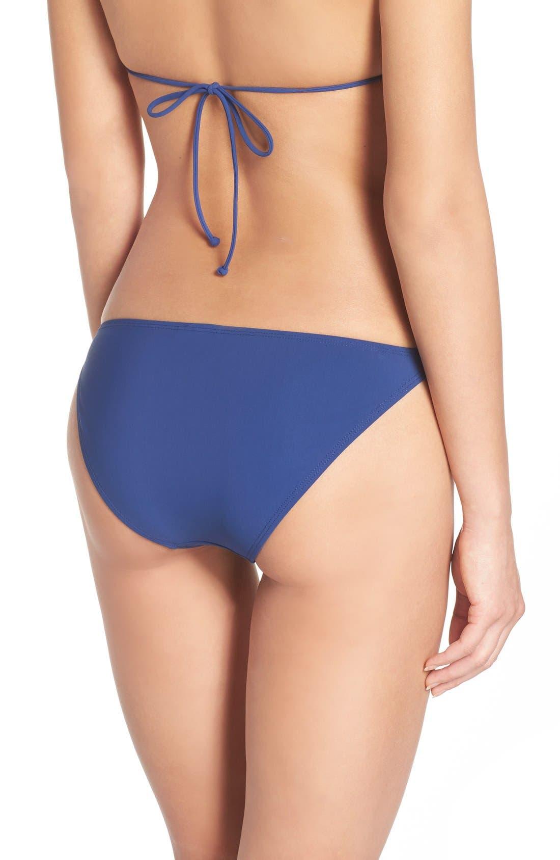 Gemini Link Bikini Bottoms,                             Alternate thumbnail 2, color,                             Capri Blue