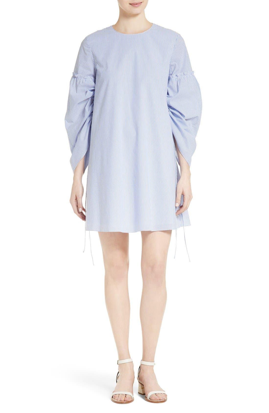 Elliot Stripe Trapeze Dress,                         Main,                         color, Blue
