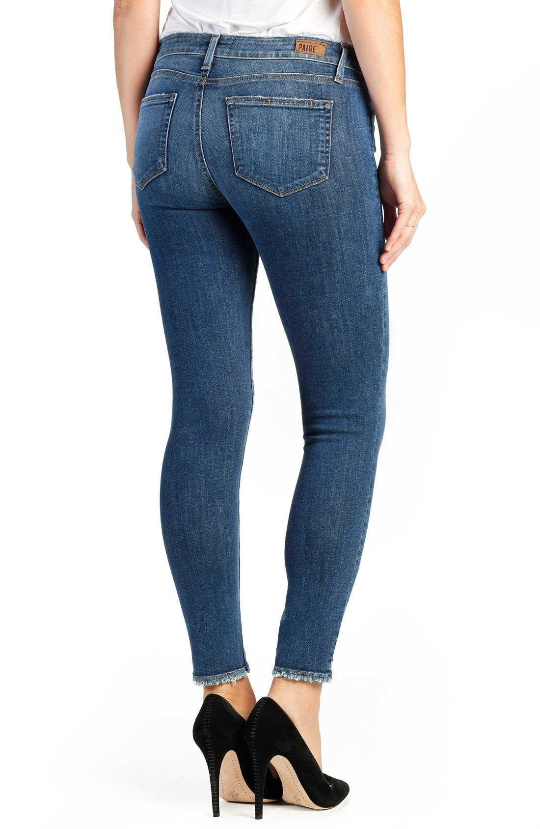 Verdugo Distressed Ankle Skinny Jeans,                             Alternate thumbnail 2, color,                             Nash