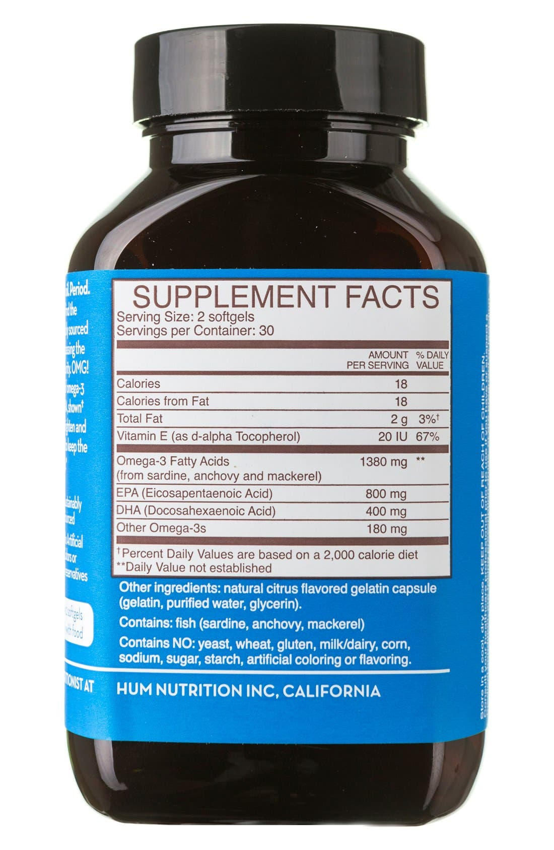 Alternate Image 3  - Hum Nutrition OMG! Omega the Great Fish Oil Supplement