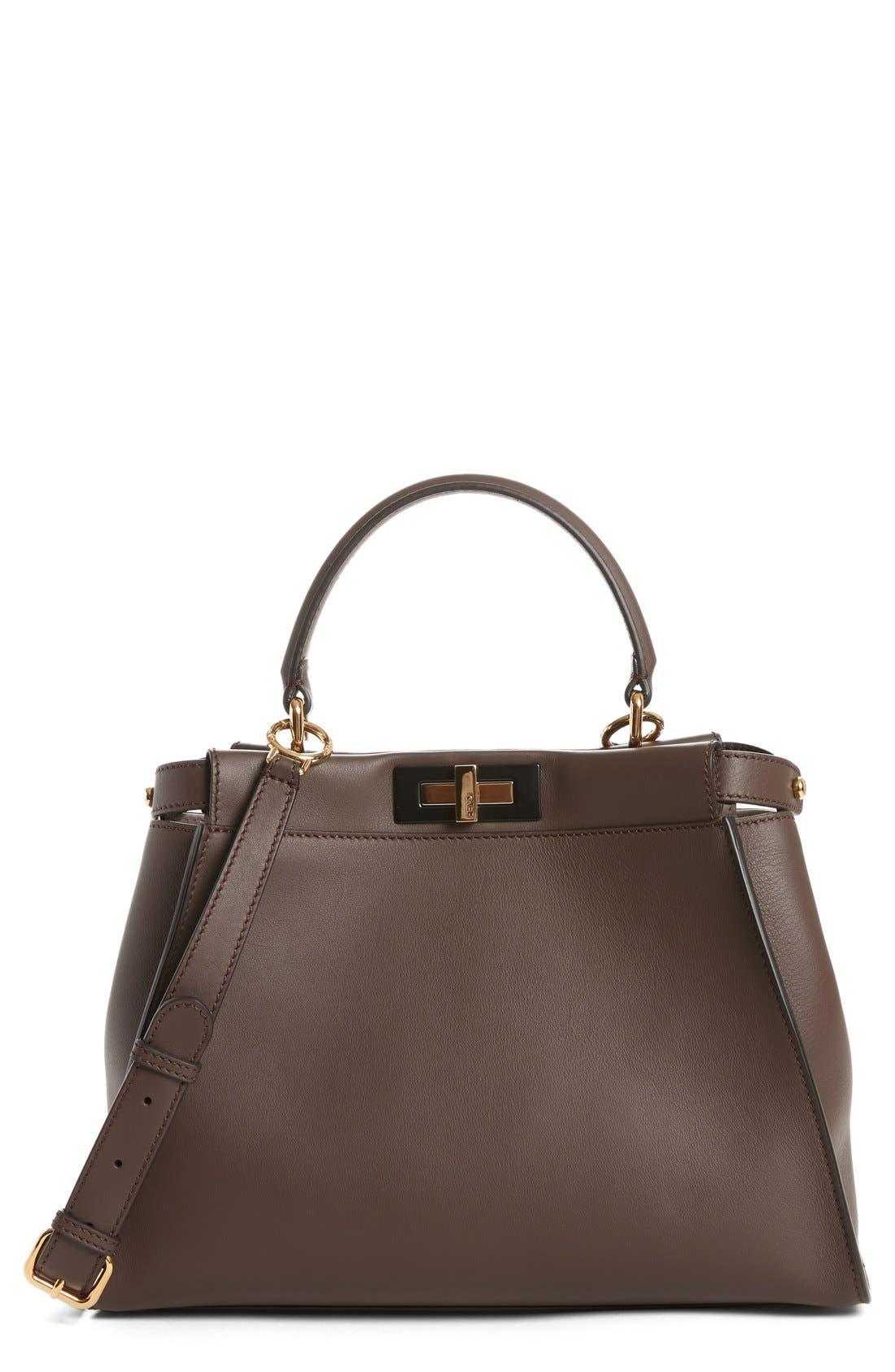 Alternate Image 1 Selected - Fendi 'Peek-A-Boo' Medium Crossbody Bag