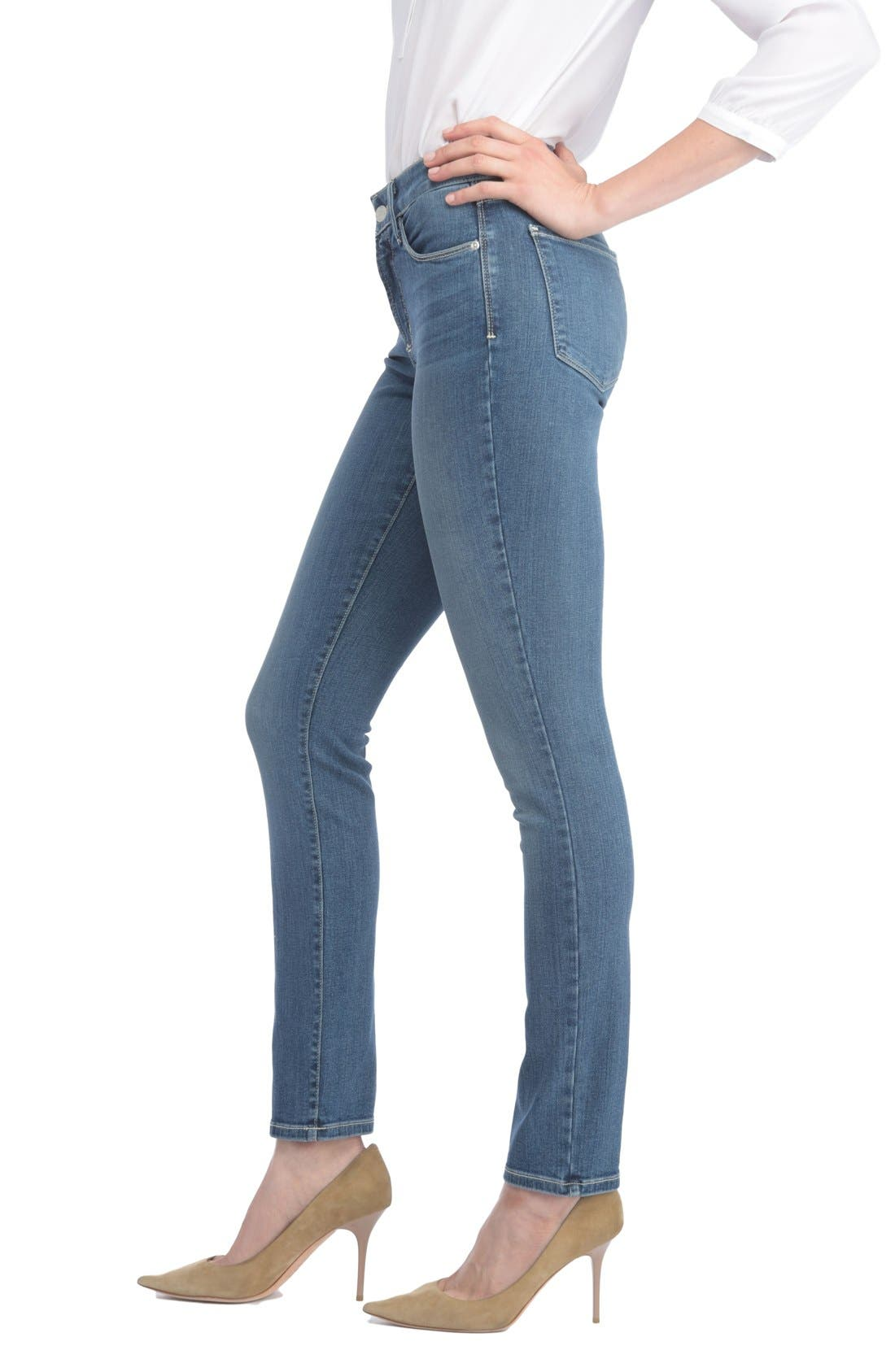 Alina Stretch Skinny Jeans,                             Alternate thumbnail 3, color,                             Heyburn