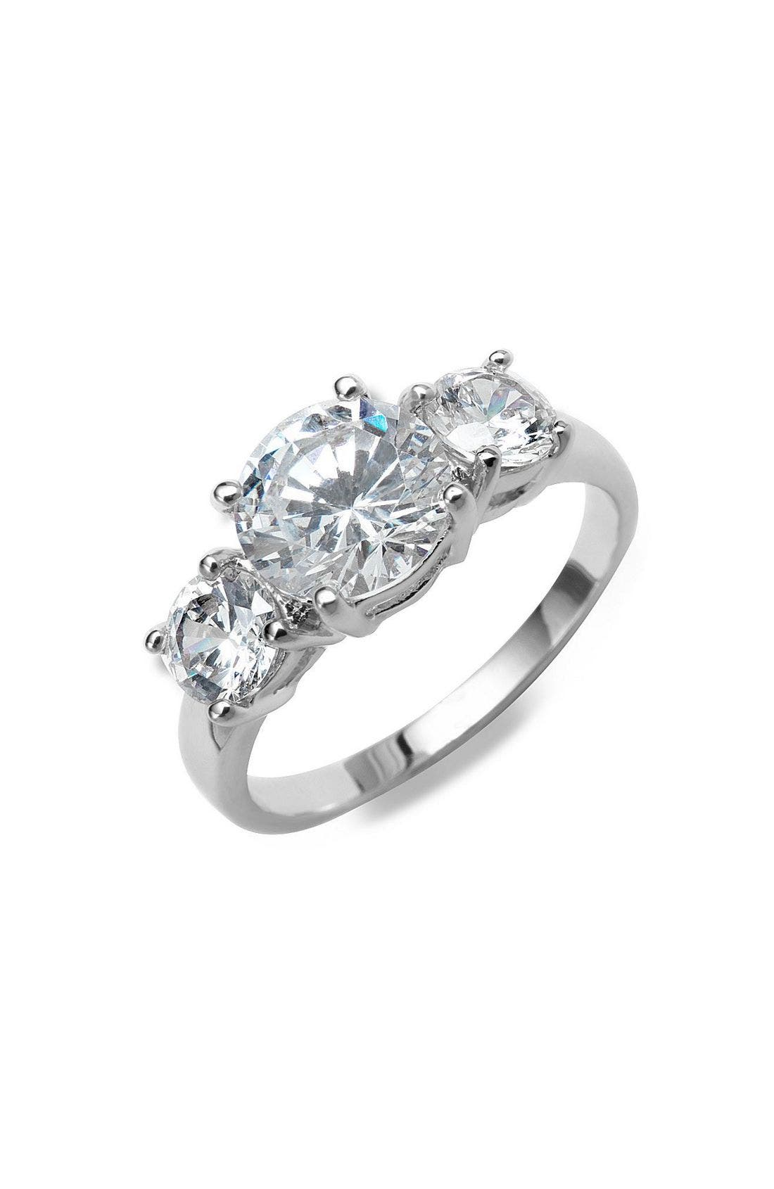 Alternate Image 1 Selected - Ariella Three-Stone Ring