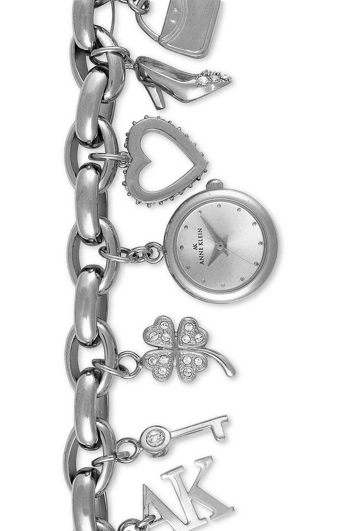Alternate Image 1 Selected - Anne Klein Charm Bracelet Watch