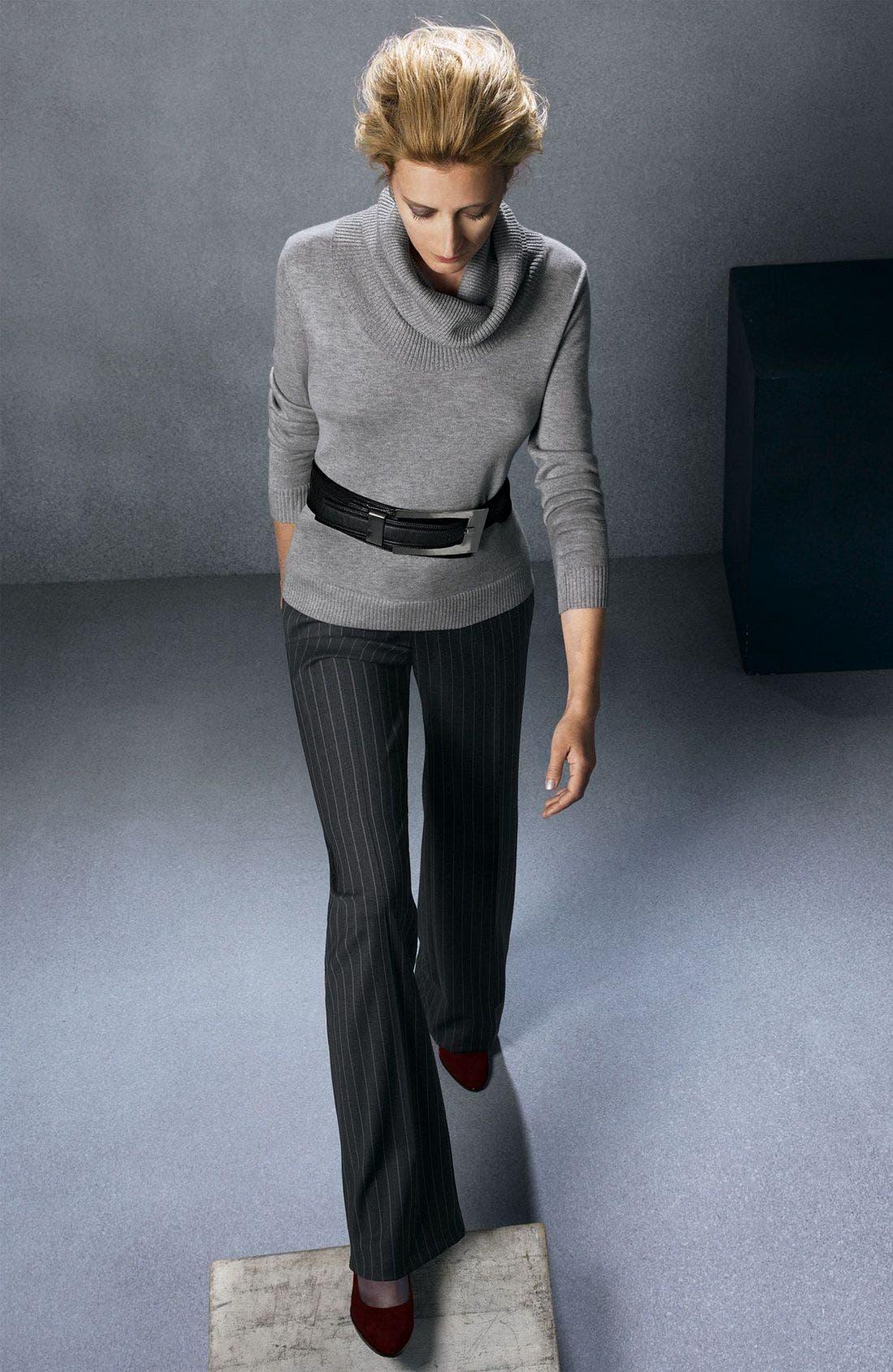 Alternate Image 2  - Façonnable Draped Turtleneck Sweater