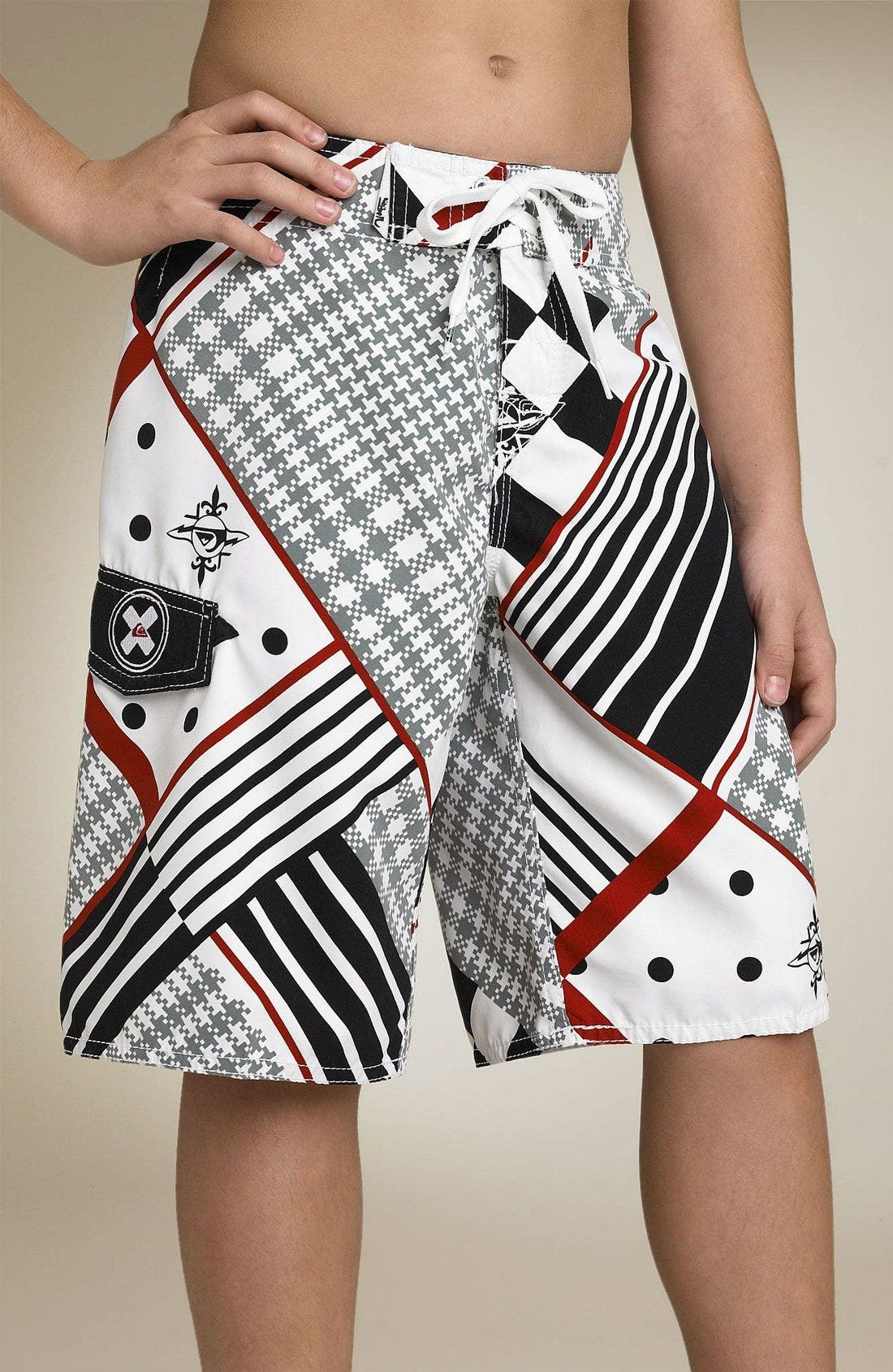 'Glamrock Holmes' Board Shorts,                         Main,                         color, White