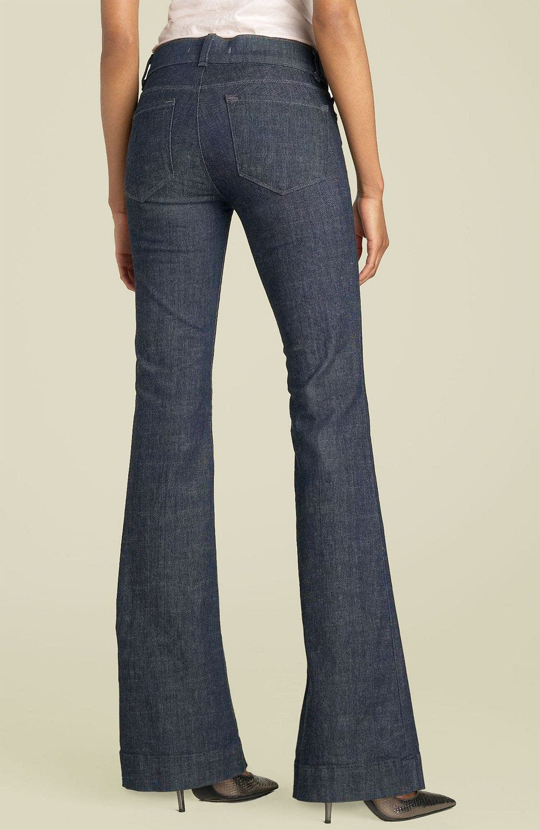 Main Image - J Brand 'Lovestory' Low Rise Bell Bottom Stretch Jeans (Miner)