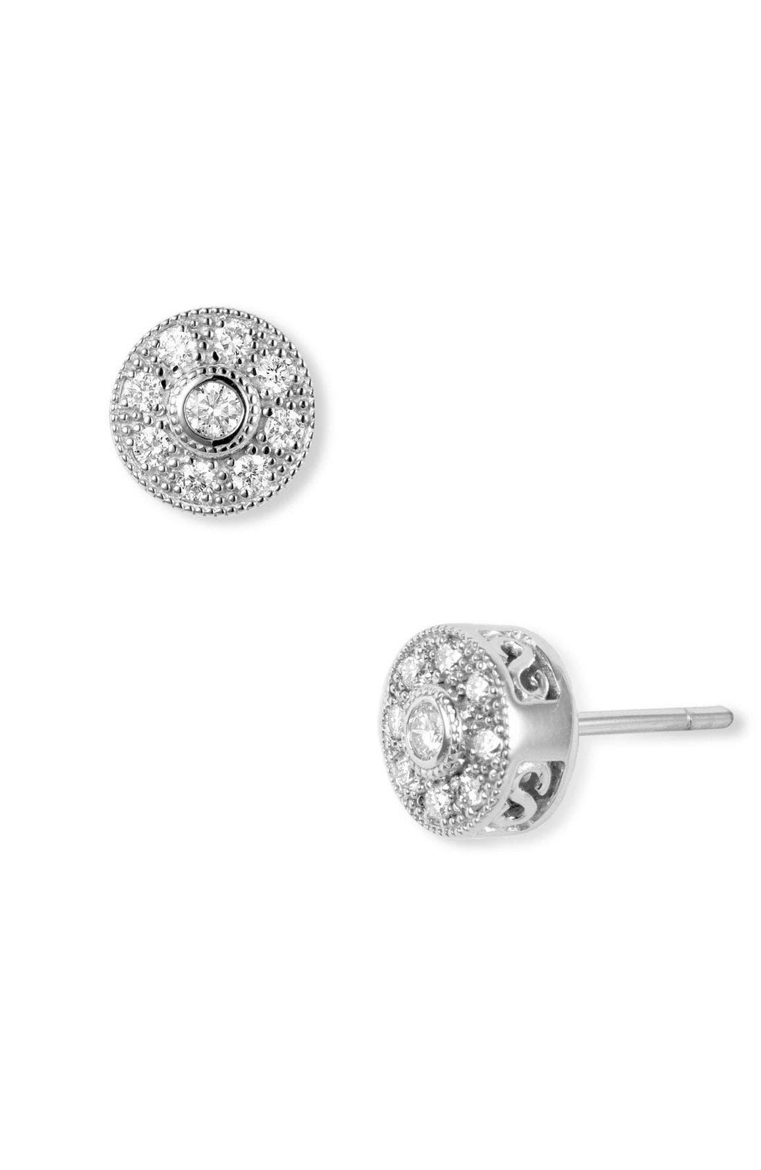 Alternate Image 1 Selected - ALOR® Diamond Stud Earrings