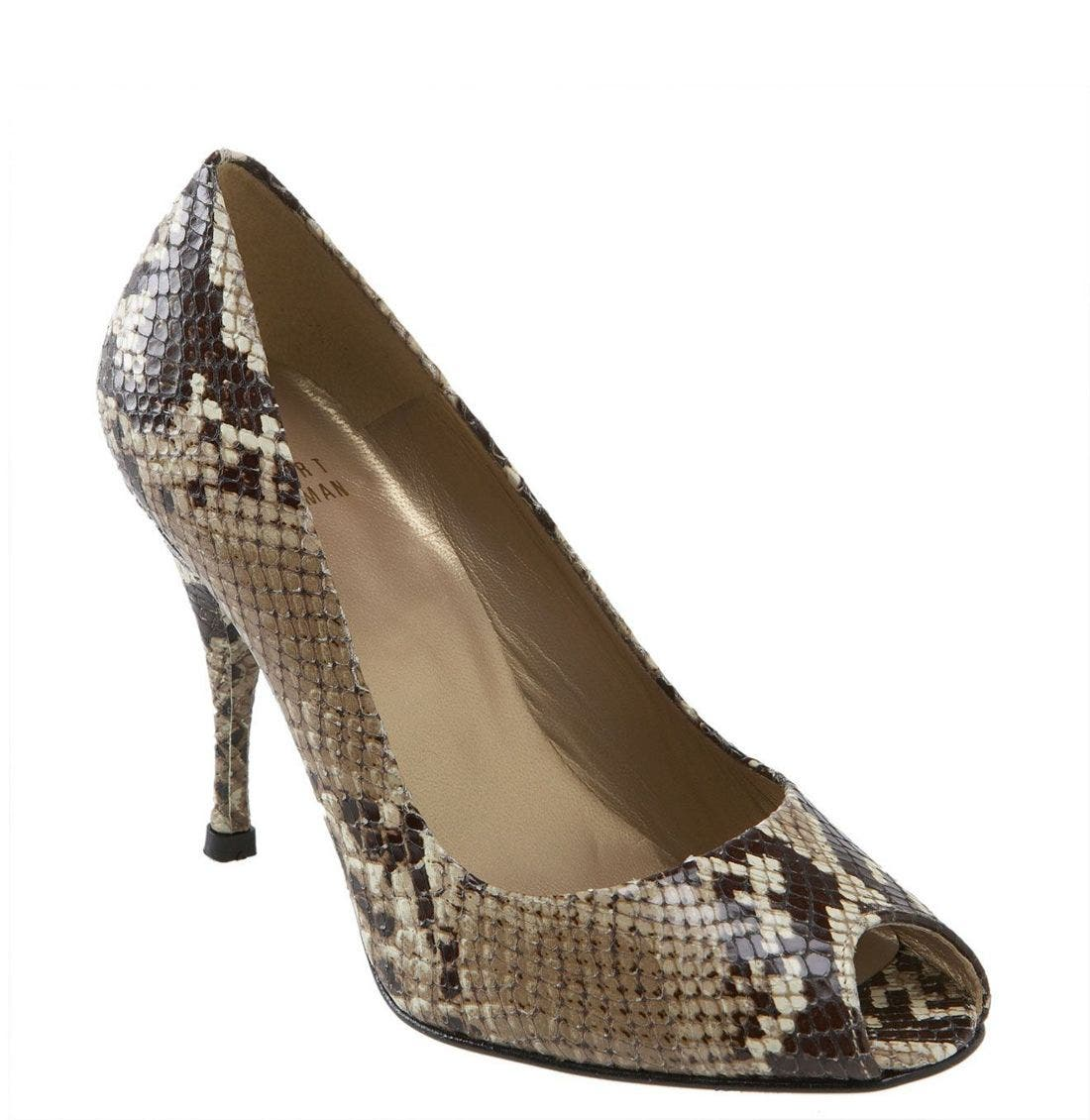 'Rolling' Pump,                             Main thumbnail 1, color,                             Taupe Amazonia