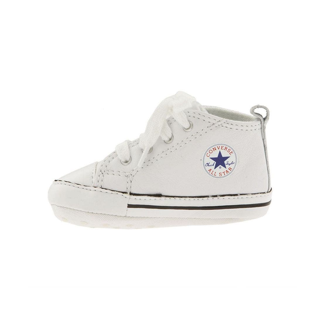 Chuck Taylor<sup>®</sup> Crib Sneaker,                             Alternate thumbnail 2, color,                             White