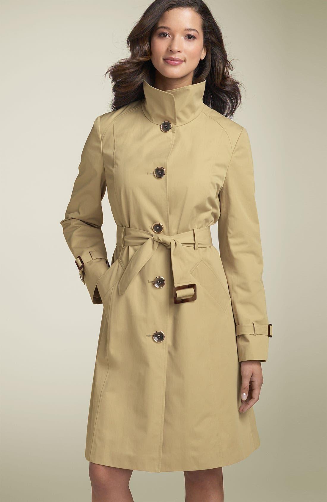Alternate Image 2  - Ellen Tracy Wing Collar Trench Coat