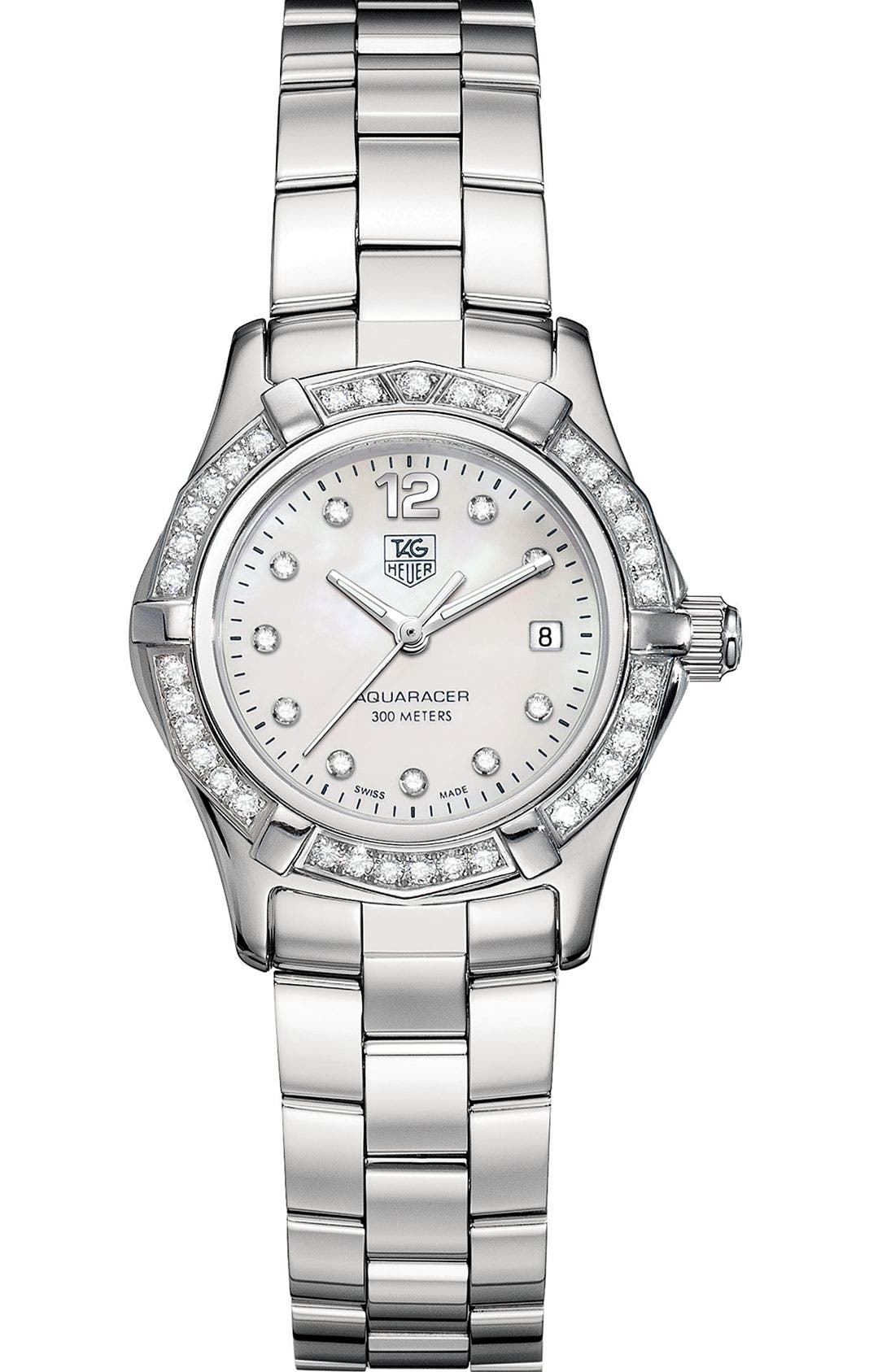 Alternate Image 1 Selected - TAG Heuer 'Aquaracer' Diamond Watch