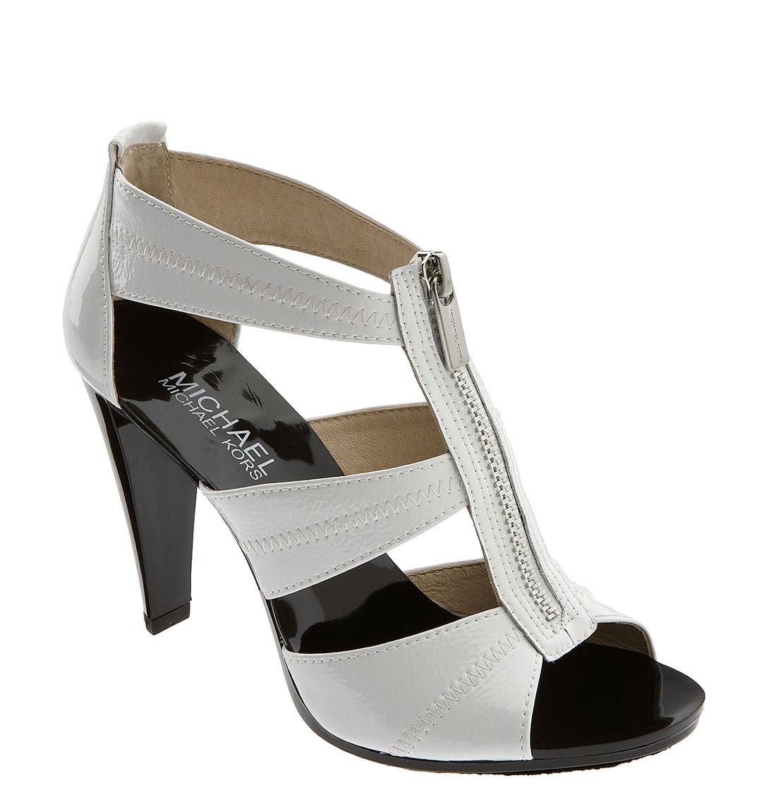 'Berkley' Sandal,                             Main thumbnail 1, color,                             White Patent